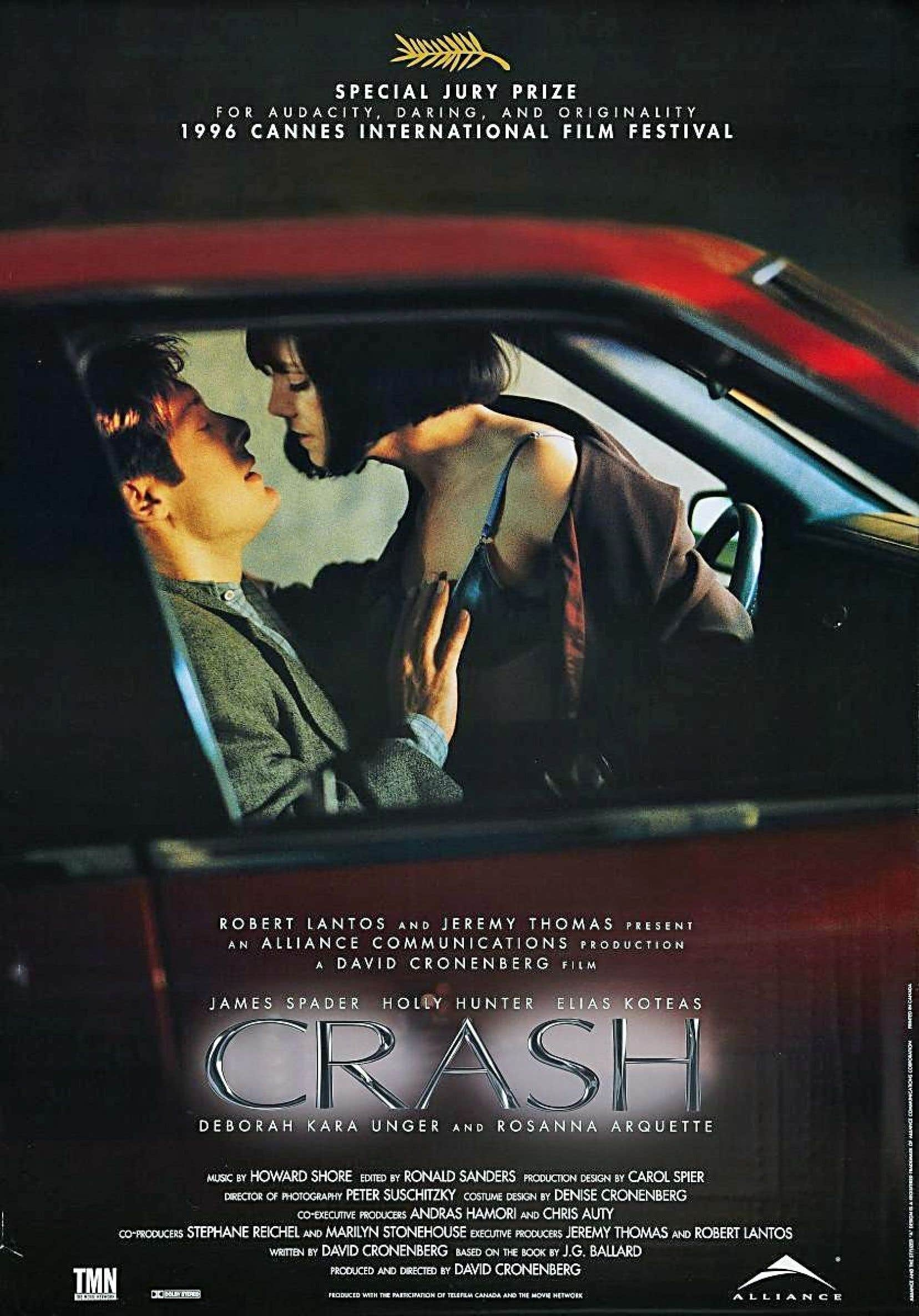 L'affiche du film «Crash», de David Cronenberg