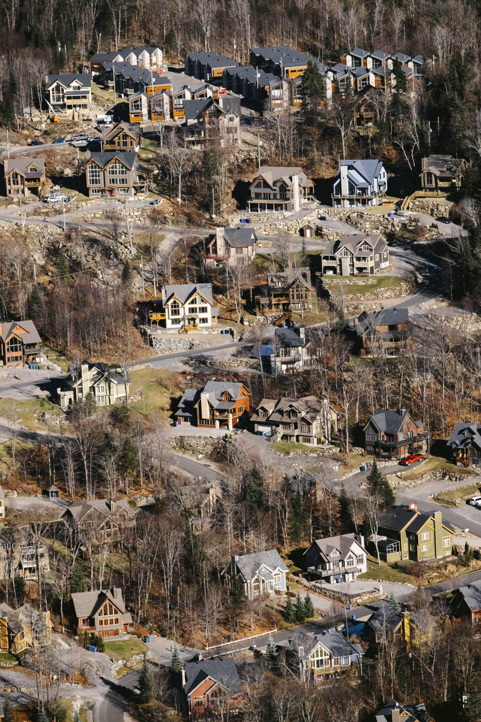 Un nouveau développement en montagne à Stoneham, dans la couronne nord de Québec