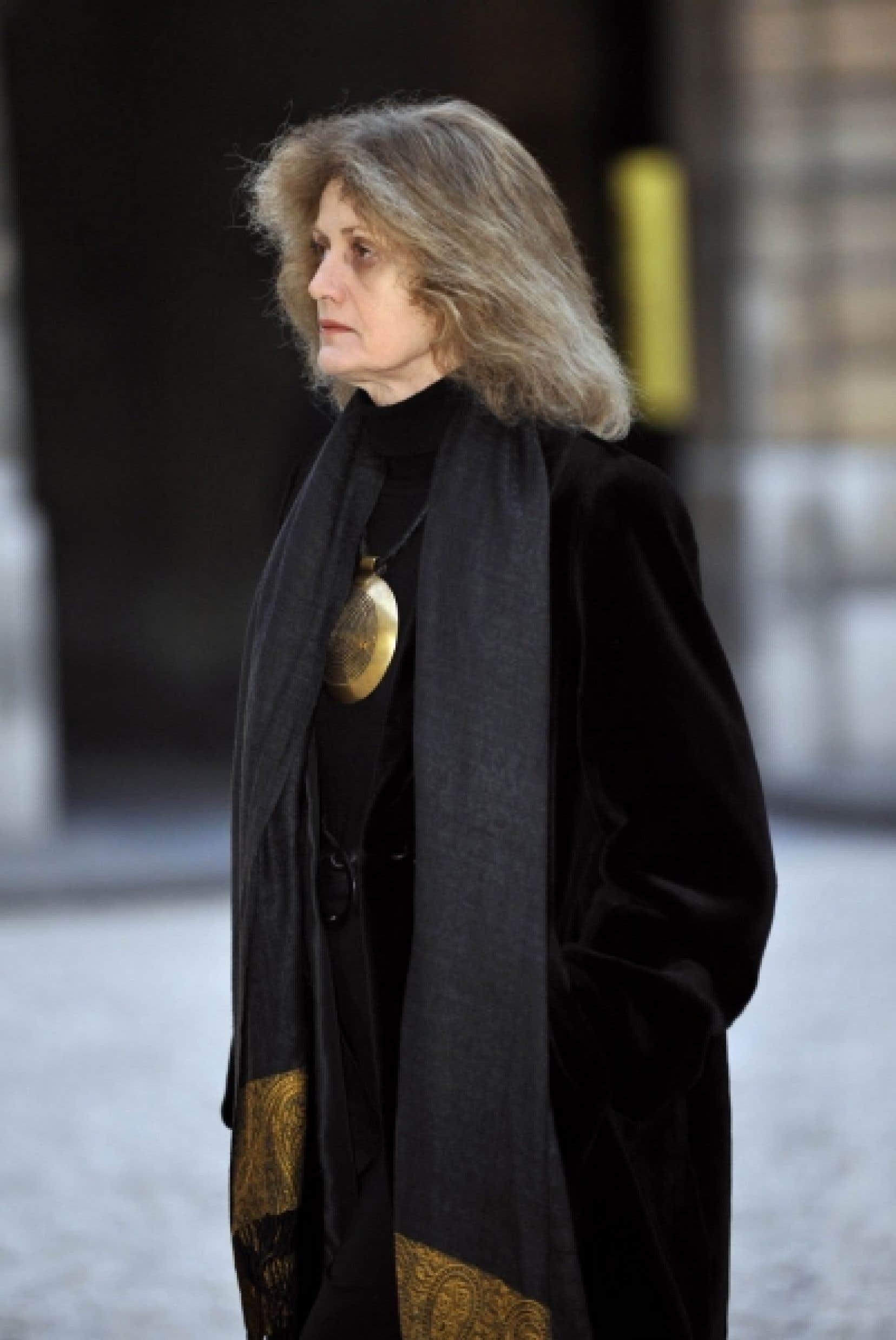 Noëlle Châtelet lors d'une récente visite au palais de l'Élysée