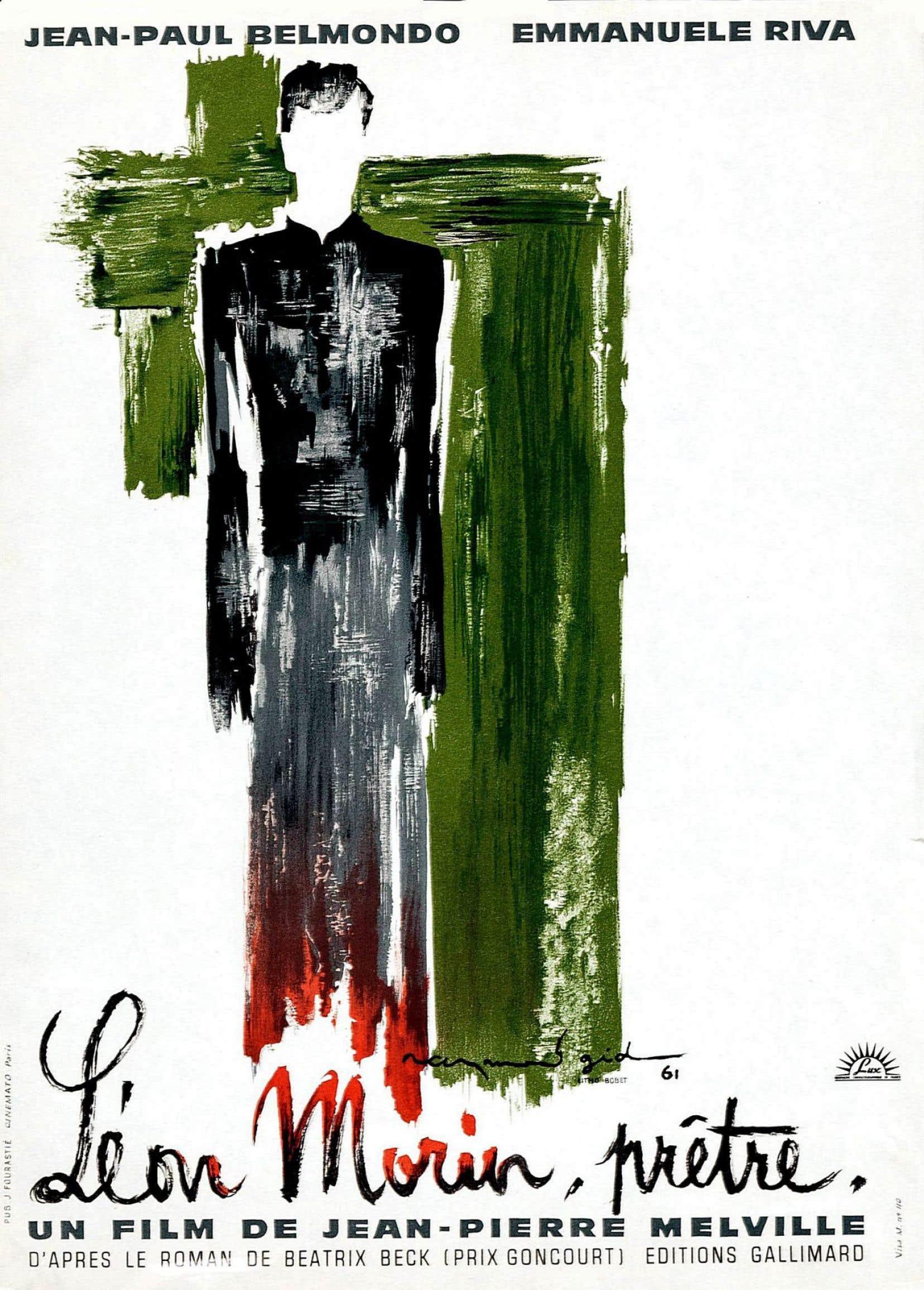 Affiche originale du film «Léon Morin, prêtre» de Jean-Pierre Melville