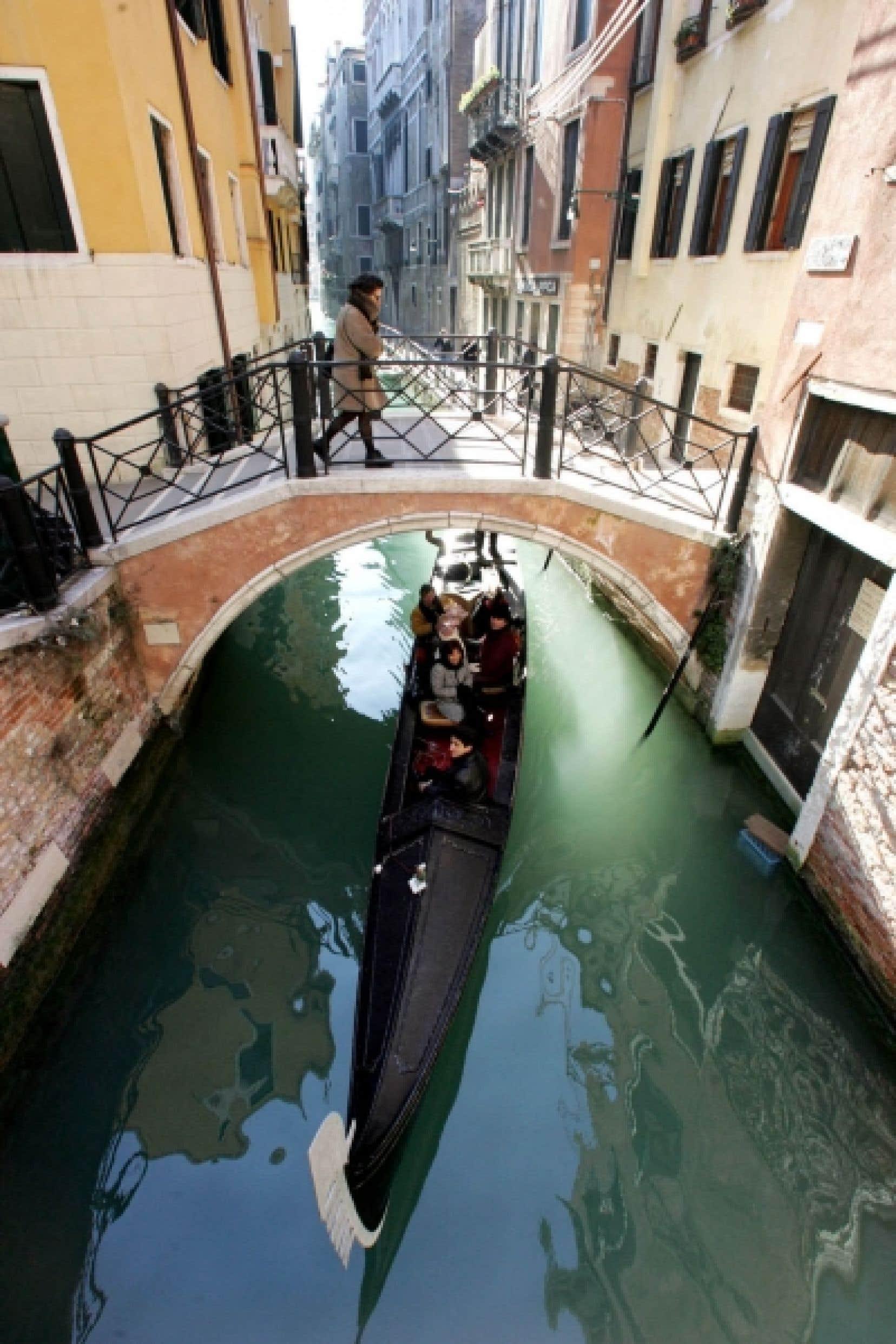 L'une des fameuses gondoles de Venise.