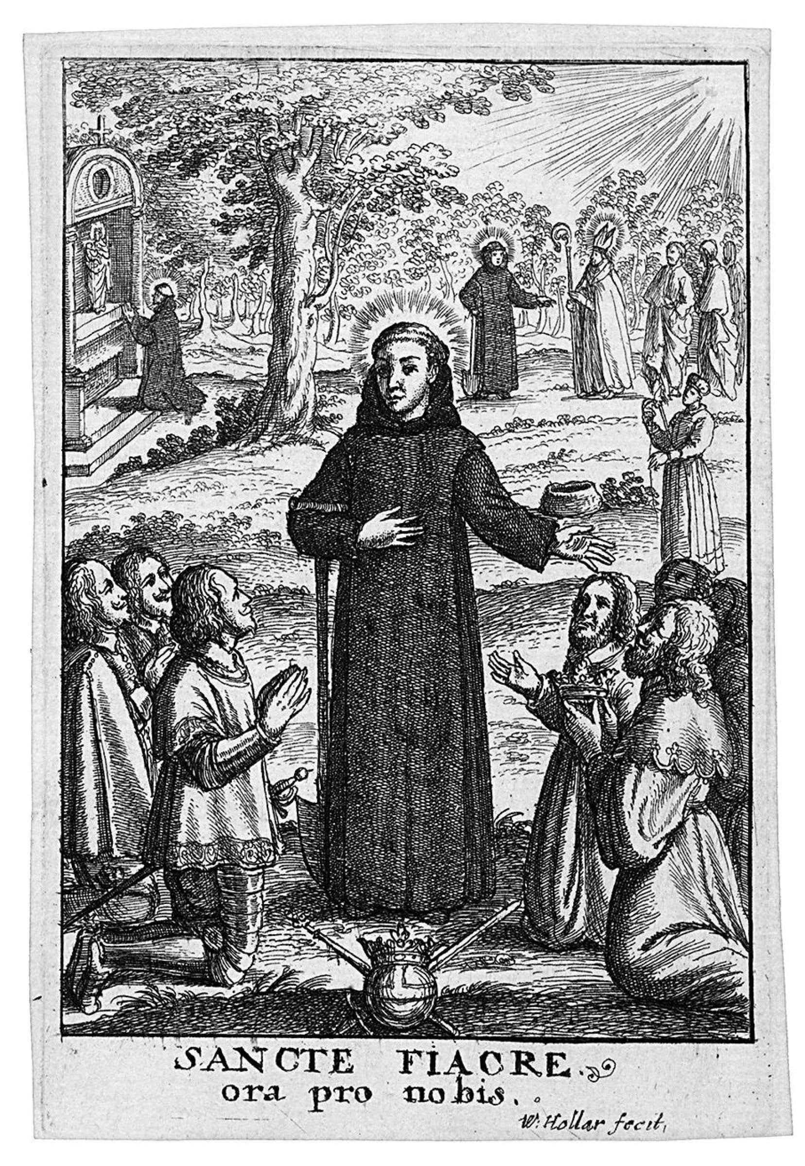 Le patron des jardiniers, saint Fiacre, s'est consacré à la culture de plantes médicinales.