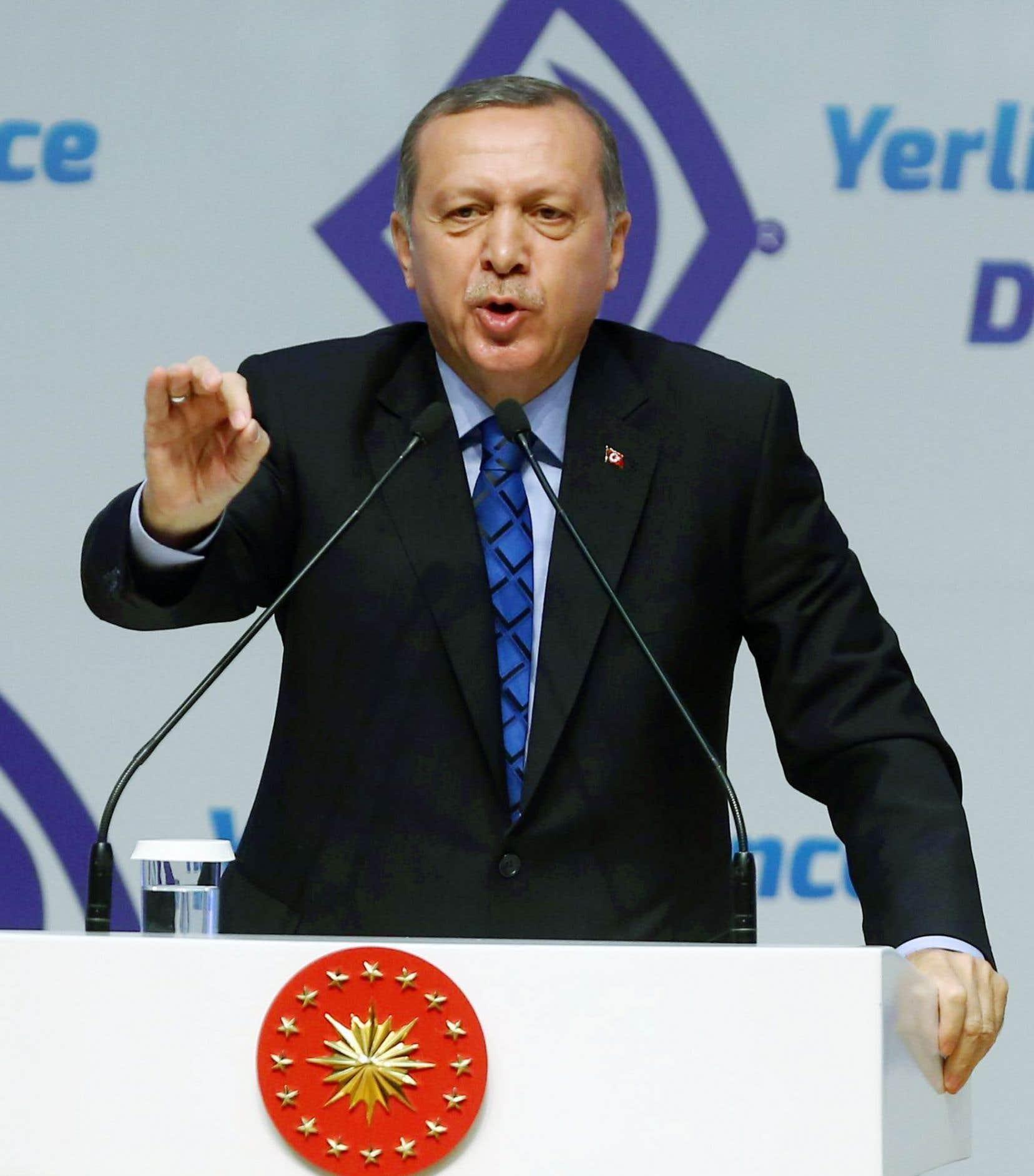 Le président de la Turquie, Recep Tayyip Erdogan