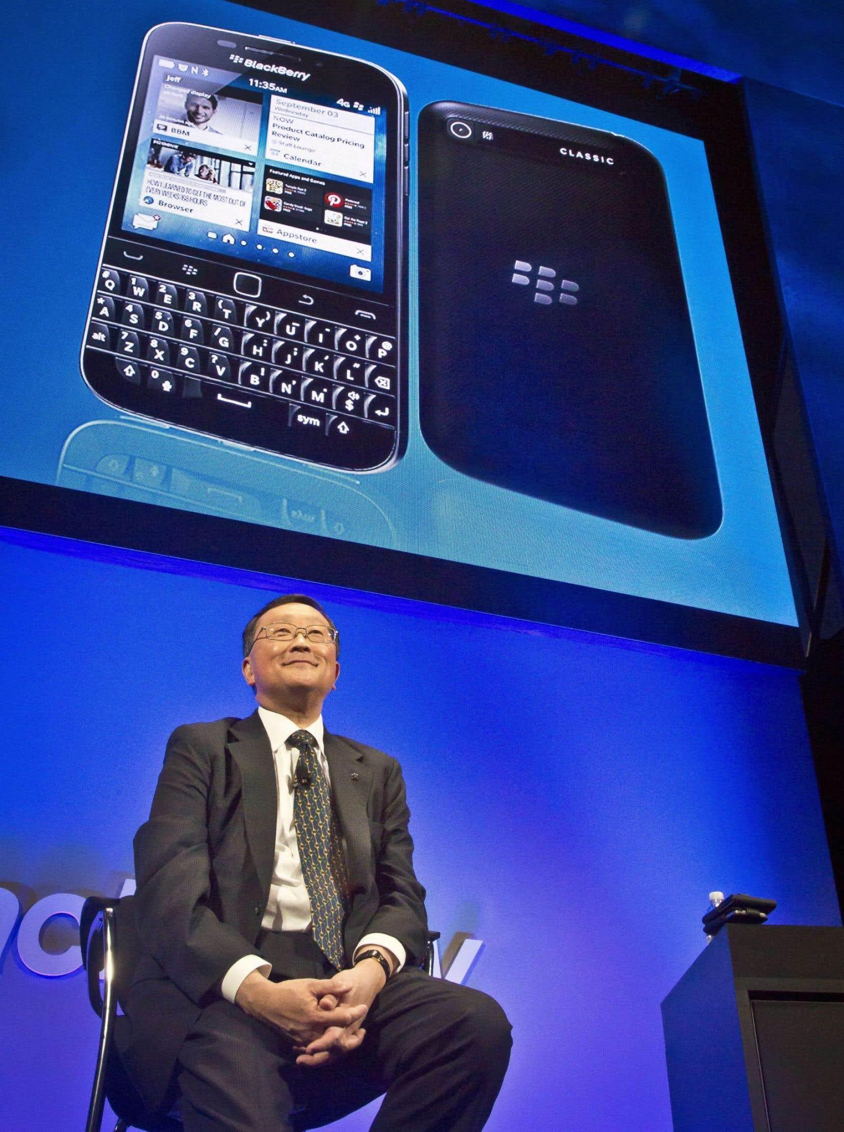 John Chen lors du lancement du BlackBerry Classic en 2014