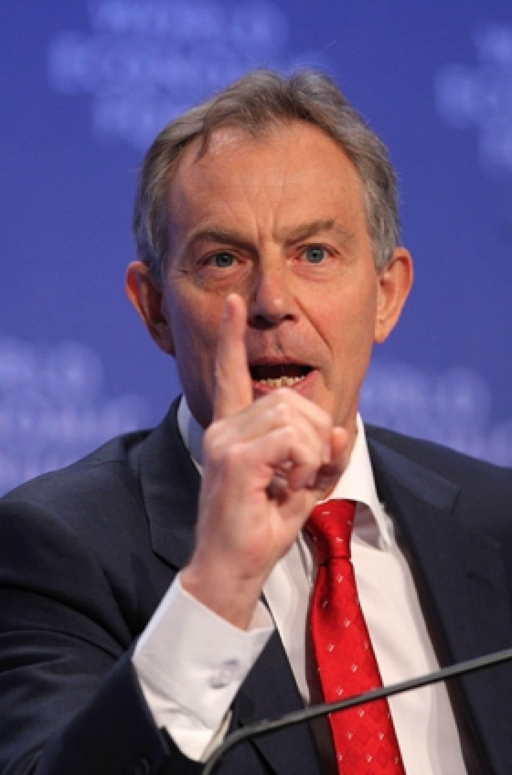 Tony Blair, ancien premier ministre du Royaume-Uni, a voulu dédramatiser les choses lors de la seconde journée du Forum économique mondial, à Davos.