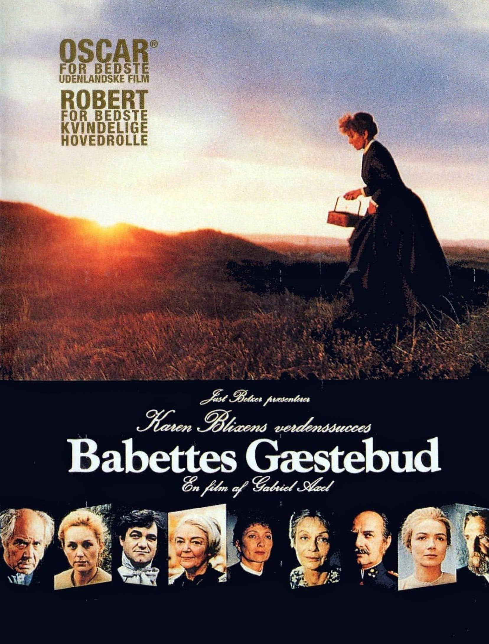 Affiche originale du film de Gabriel Axel, Le festin de Babette