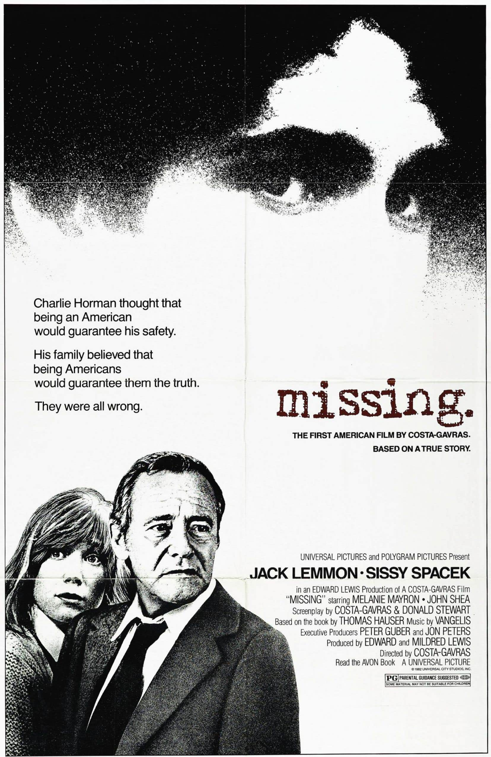 Affiche originale de «Missing» de Costa-Gavras