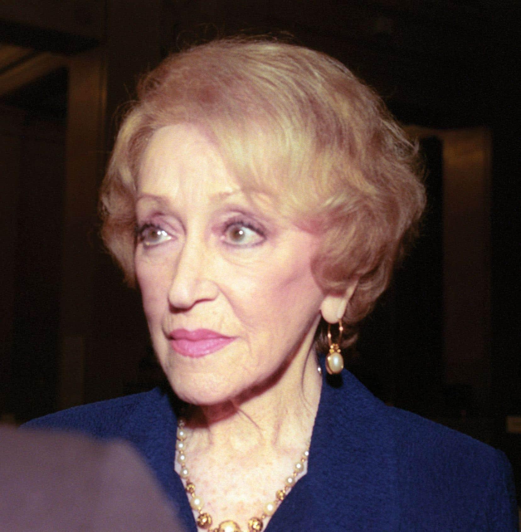 La chanteuse Lucille Dumont, photographiée en 2000.
