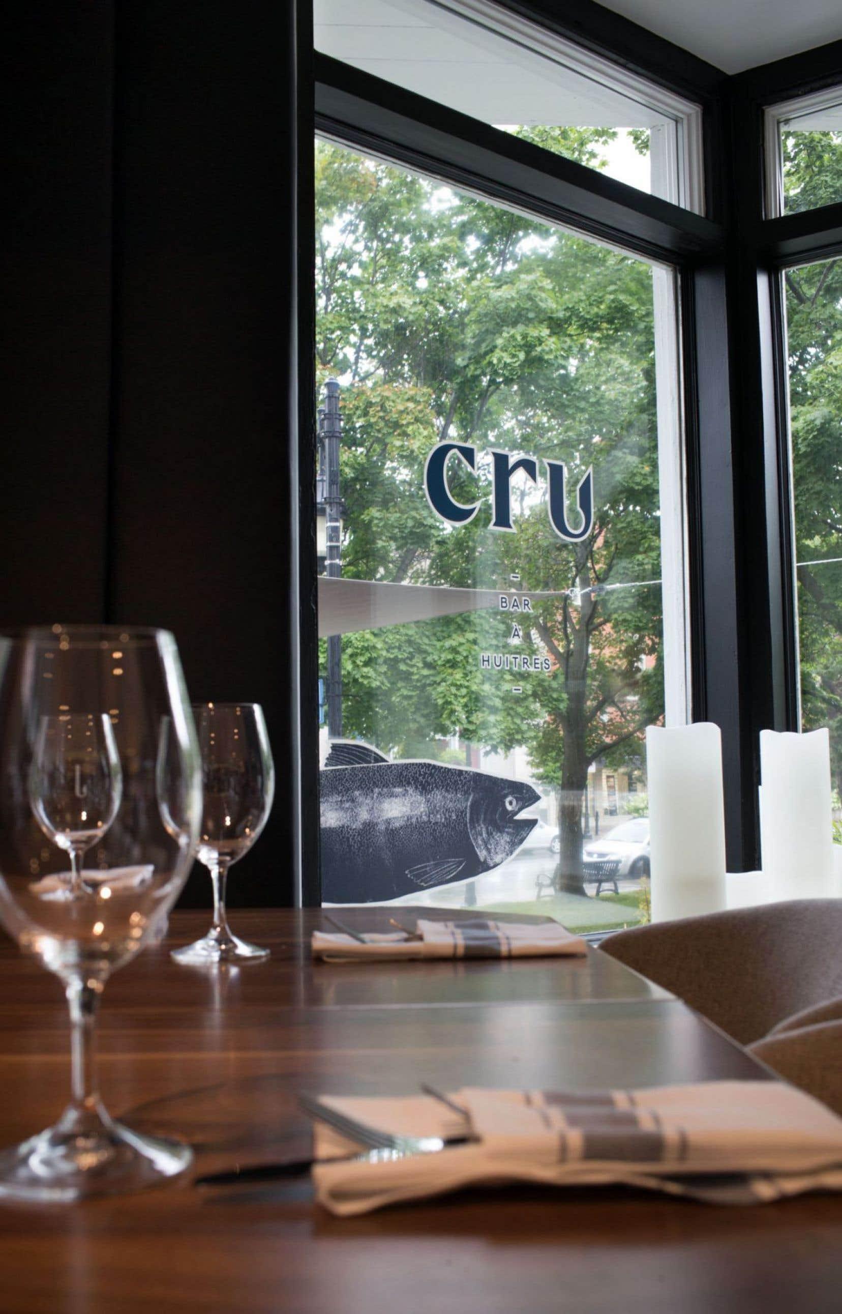 Puisque la maison s'appelle Cru et qu'il y a de jolis dessins d'hameçons un peu partout, nous avons choisi un menu en conséquence.