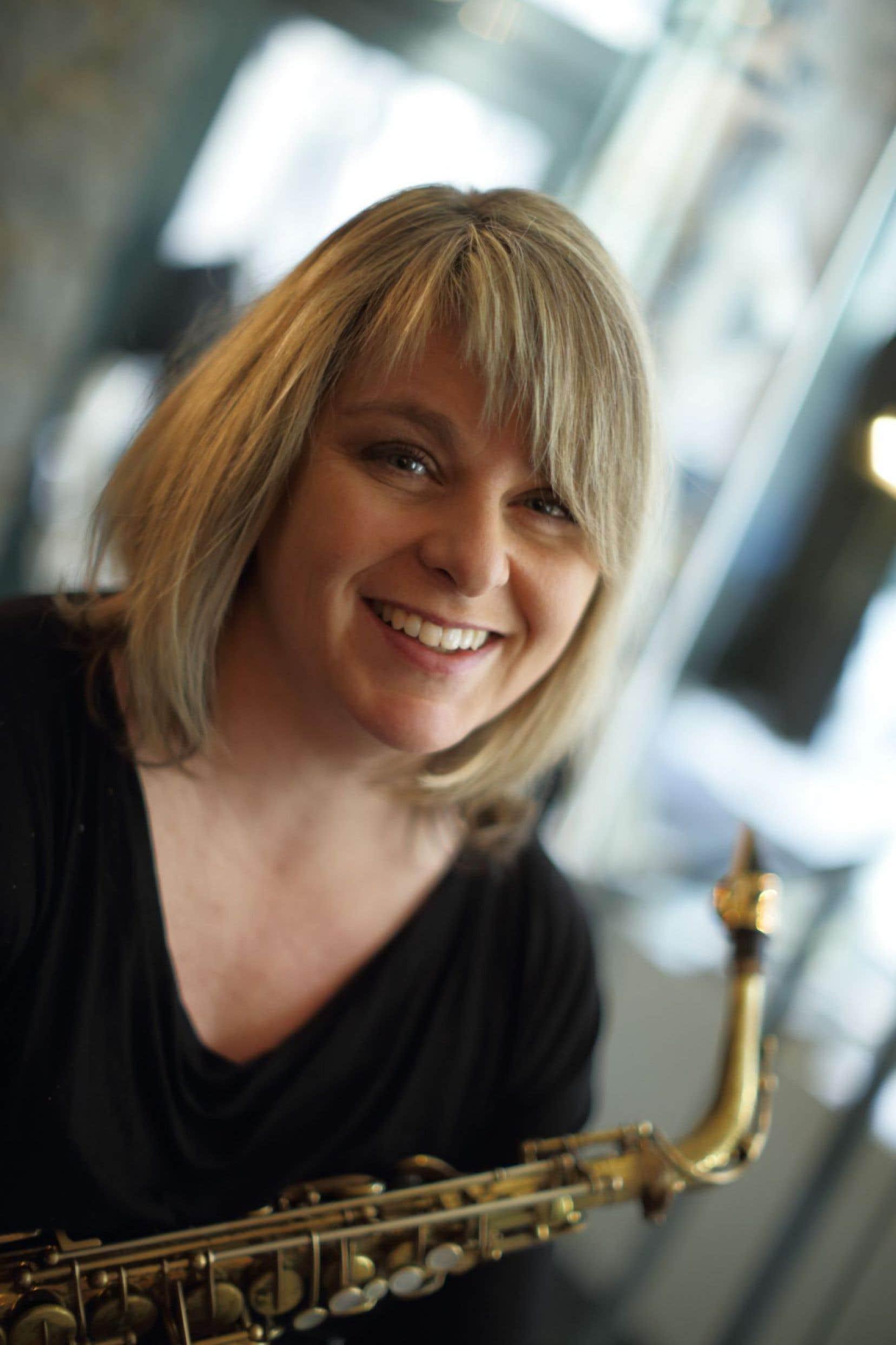 La saxophoniste Christine Jensen a monté un super-groupe, avec la pianiste Maggi Olin.