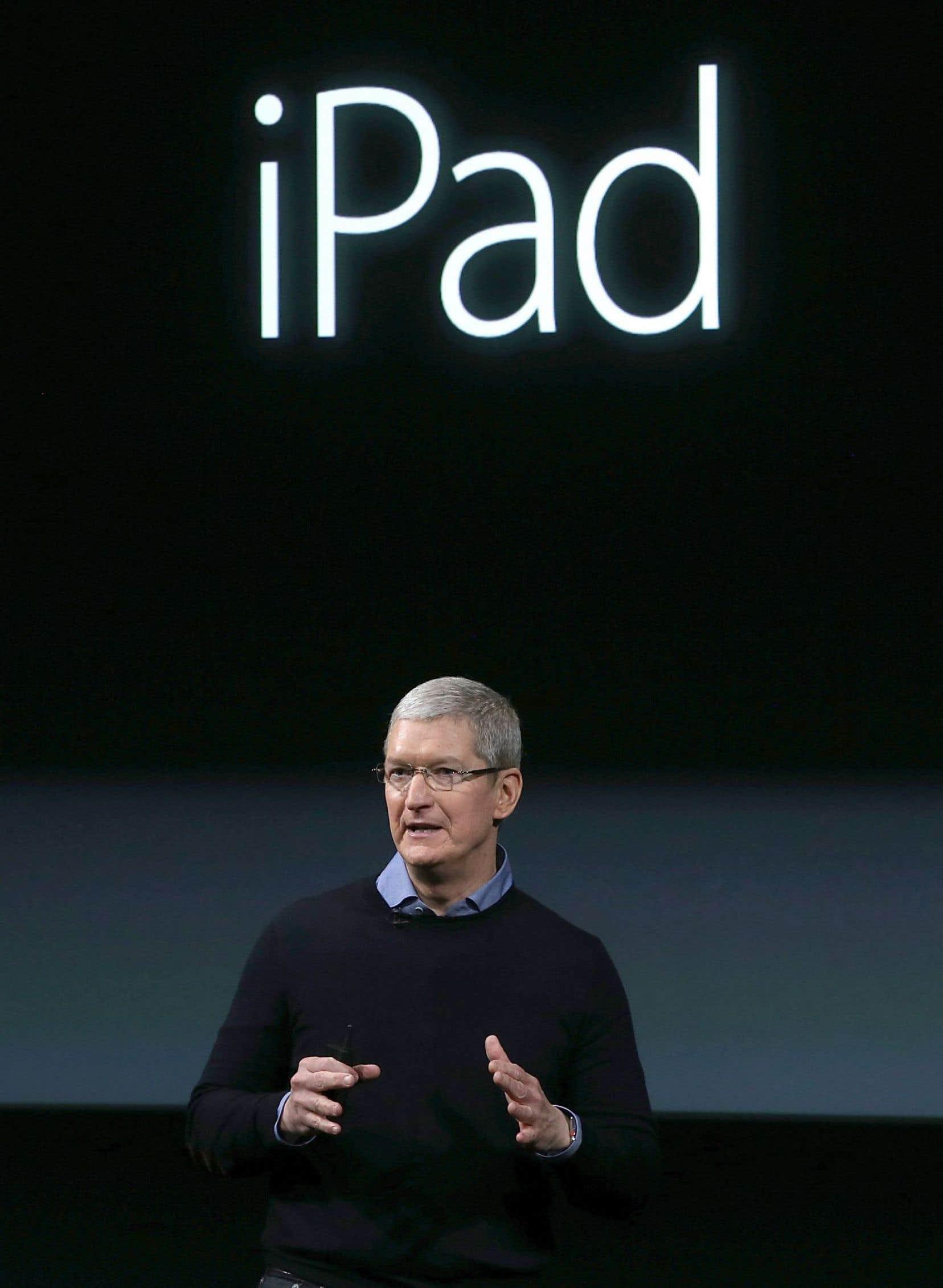 Le directeur général d'Apple, Tim Cook