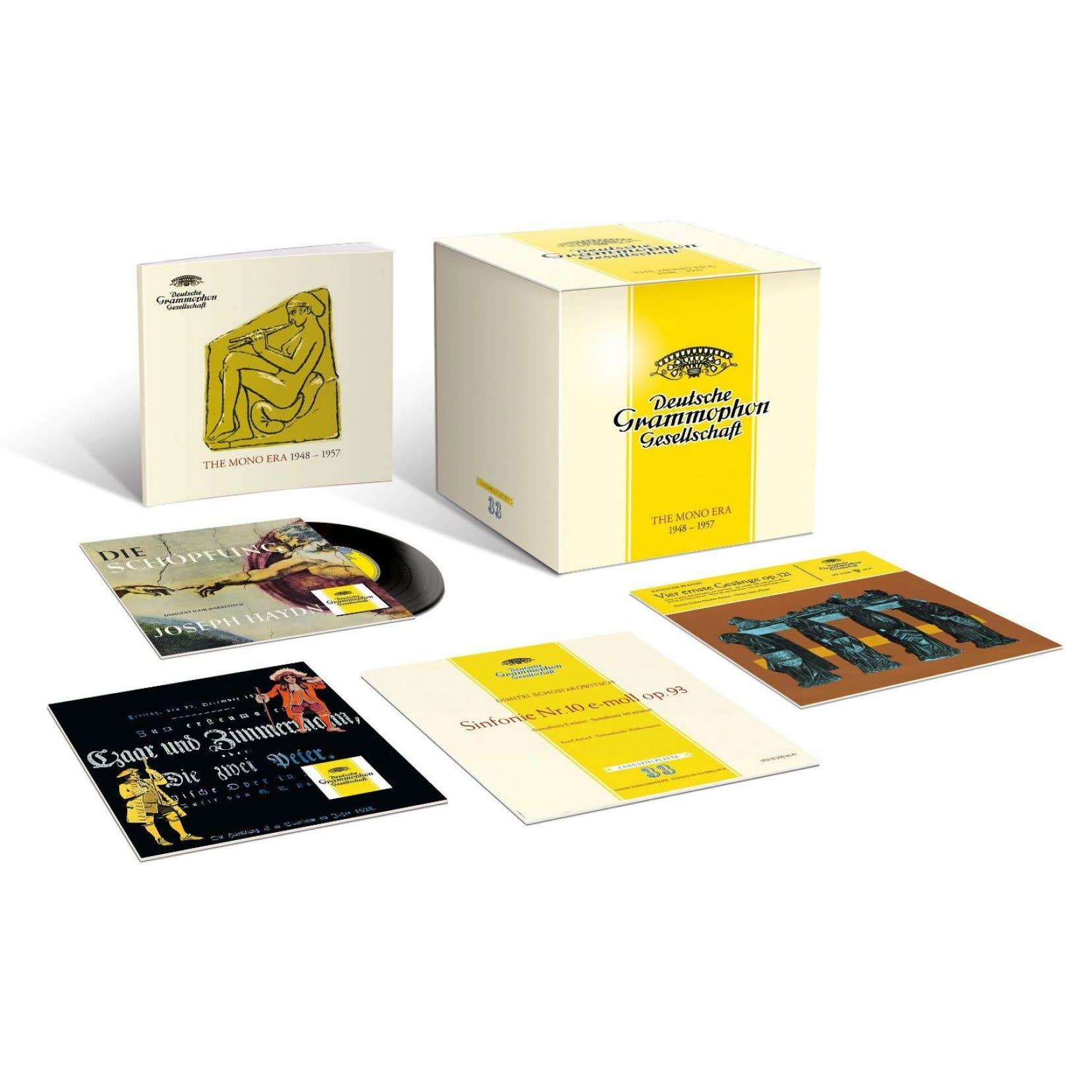 Le coffret cubique de 50cd regroupe des enregistrements monophoniques de l'après-guerre.