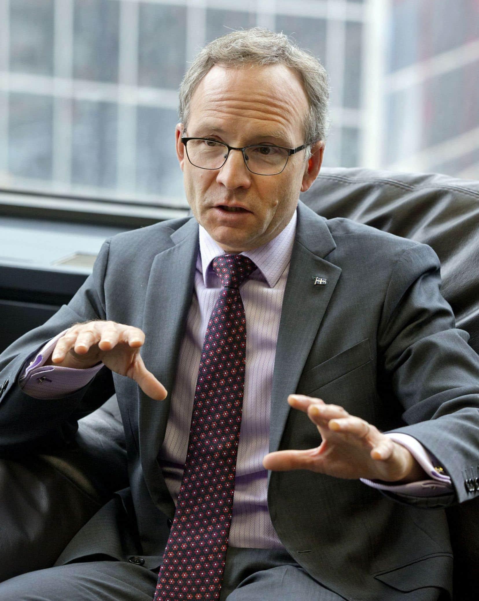 Le ministre des affaires municipales, Martin Coiteux