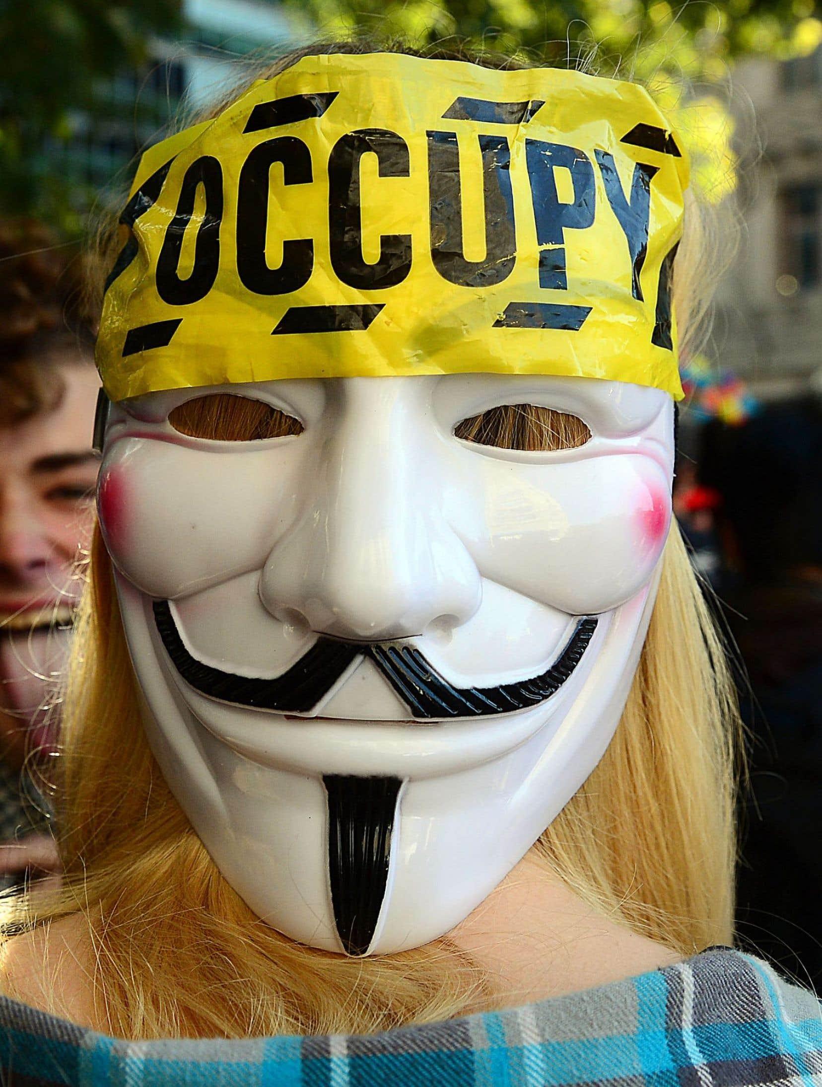 Une participante d'Occupy Wall Street, en 2012