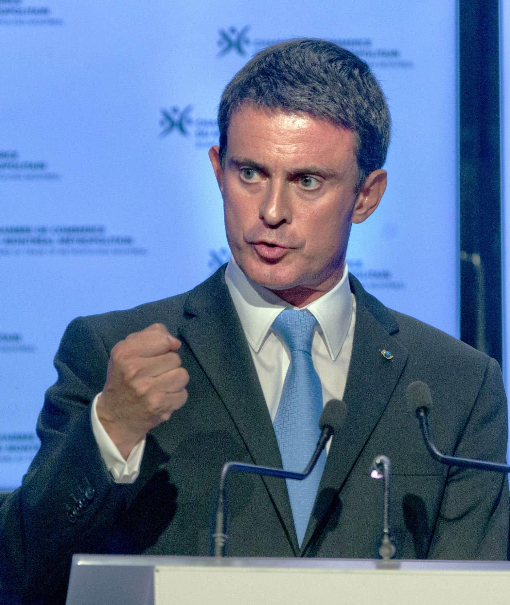 Le premier ministre de France, Manuel Valls