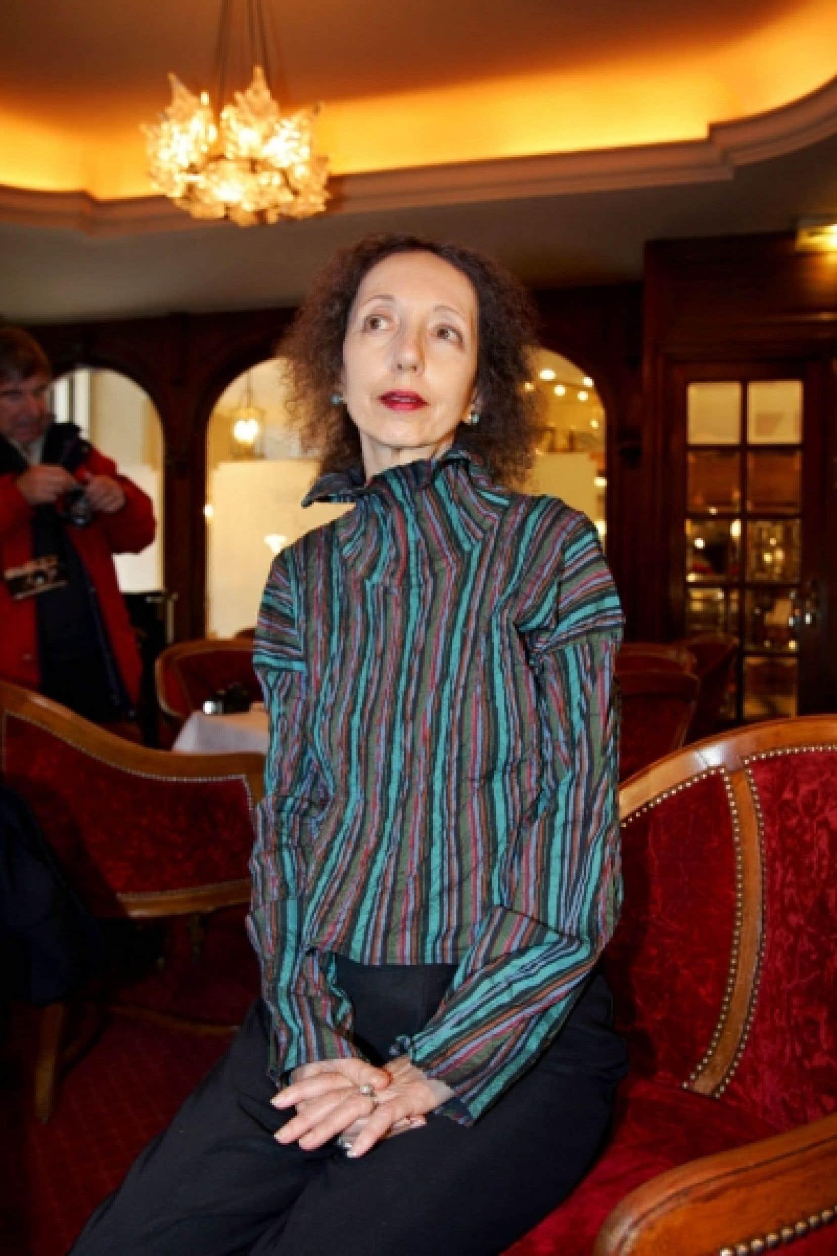 Joyce Carol Oates, photographiée à Paris en 2005