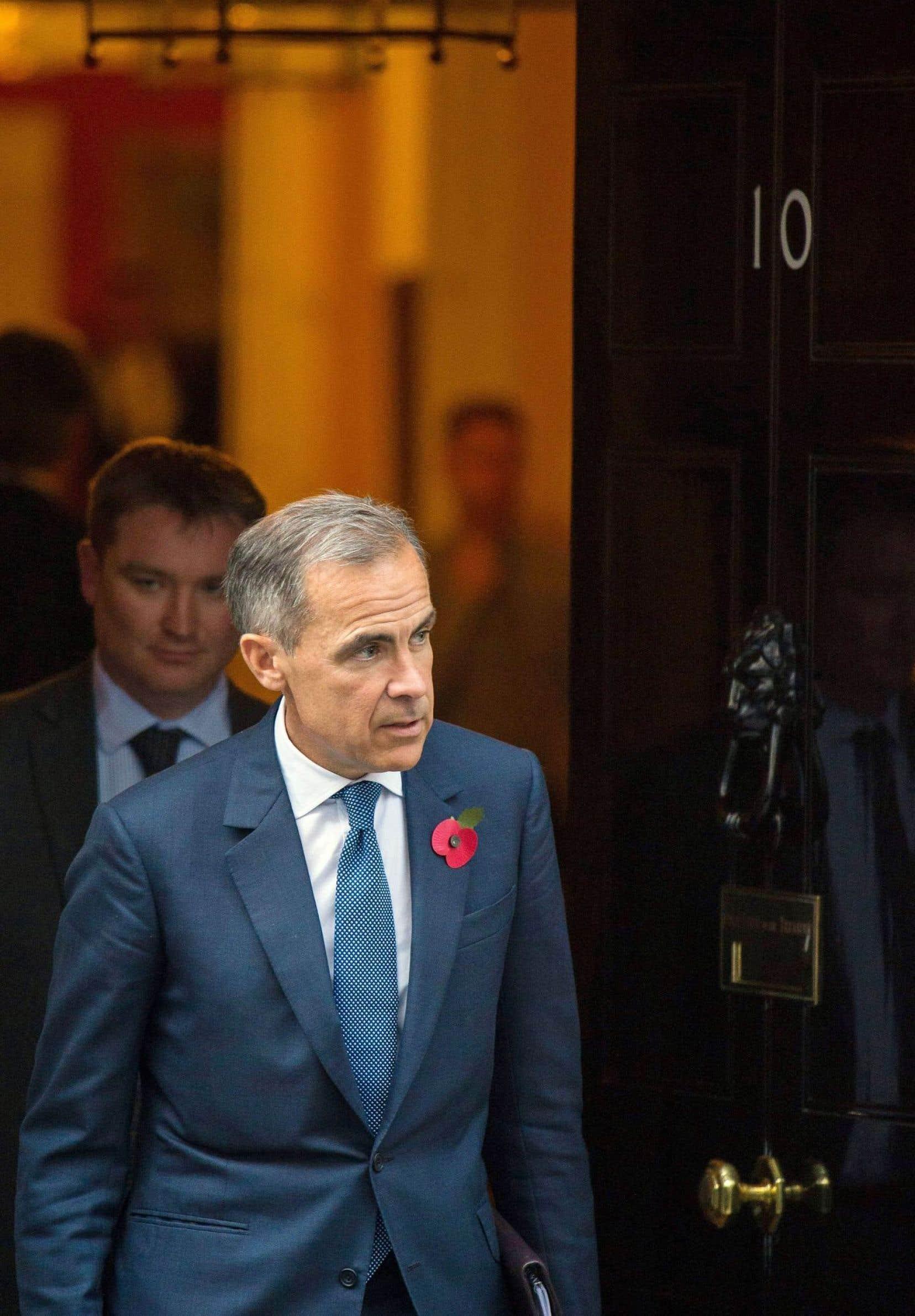 Le gouverneur de la Banque d'Angleterre, Mark Carney, lundi après une réunion au 10 Downing Street