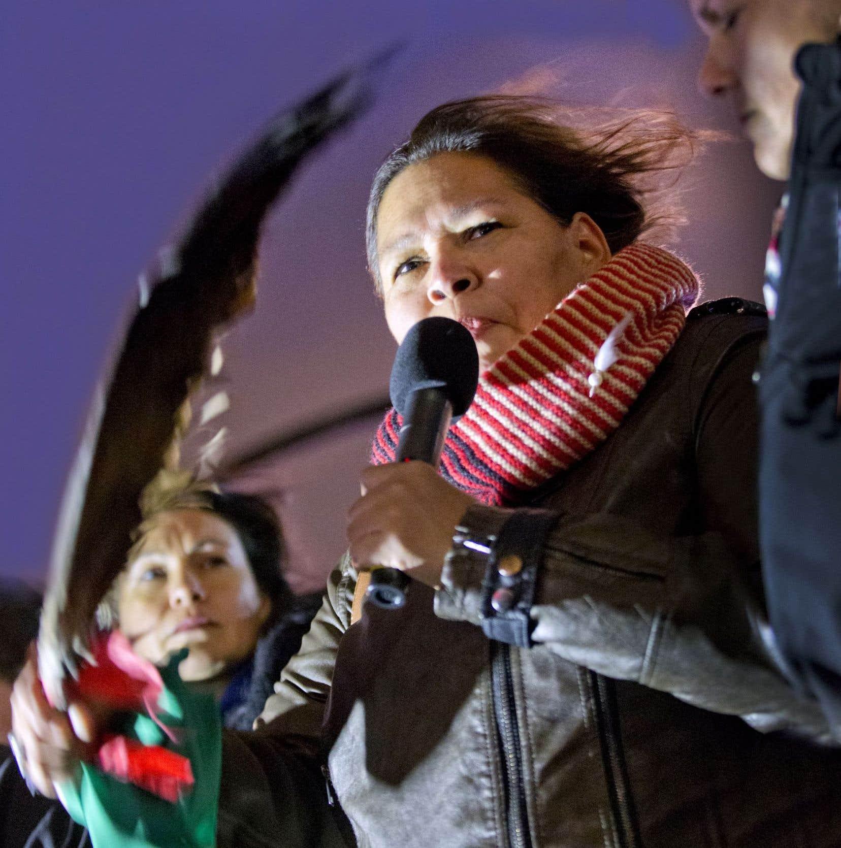 Viviane Michel, présidente des Femmes autochtones du Québec