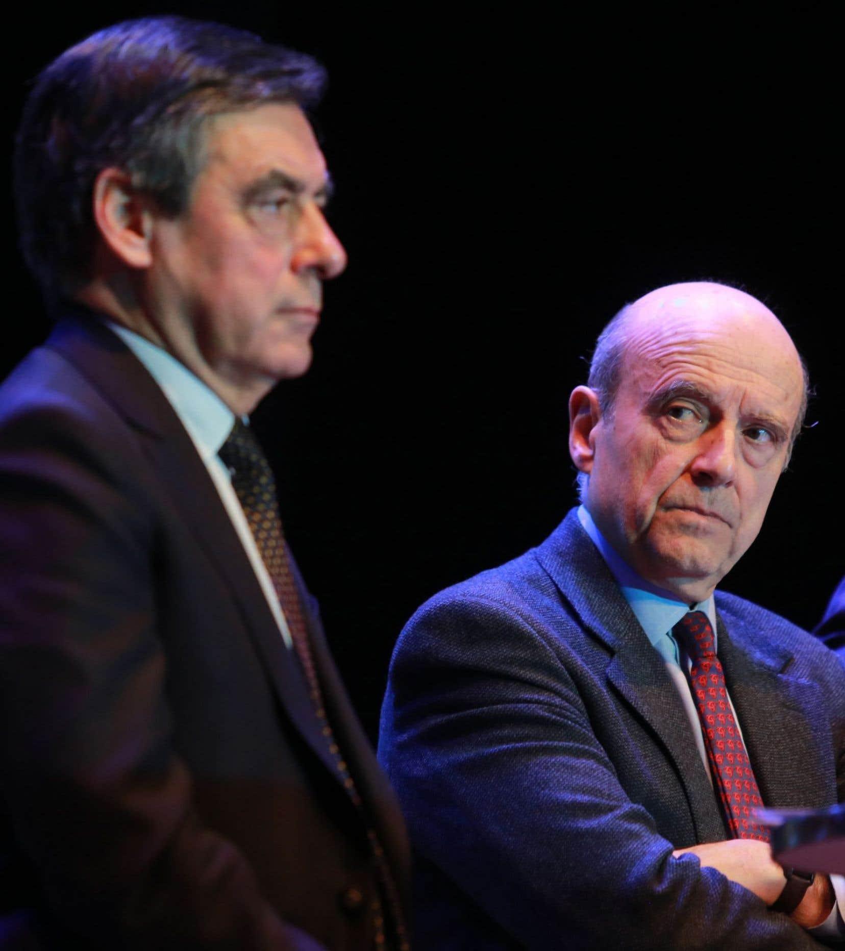 Les deux candidats qui s'affronteront lors du deuxième tour de la primaire chez Les Républicains, François Fillon et Alain Juppé.