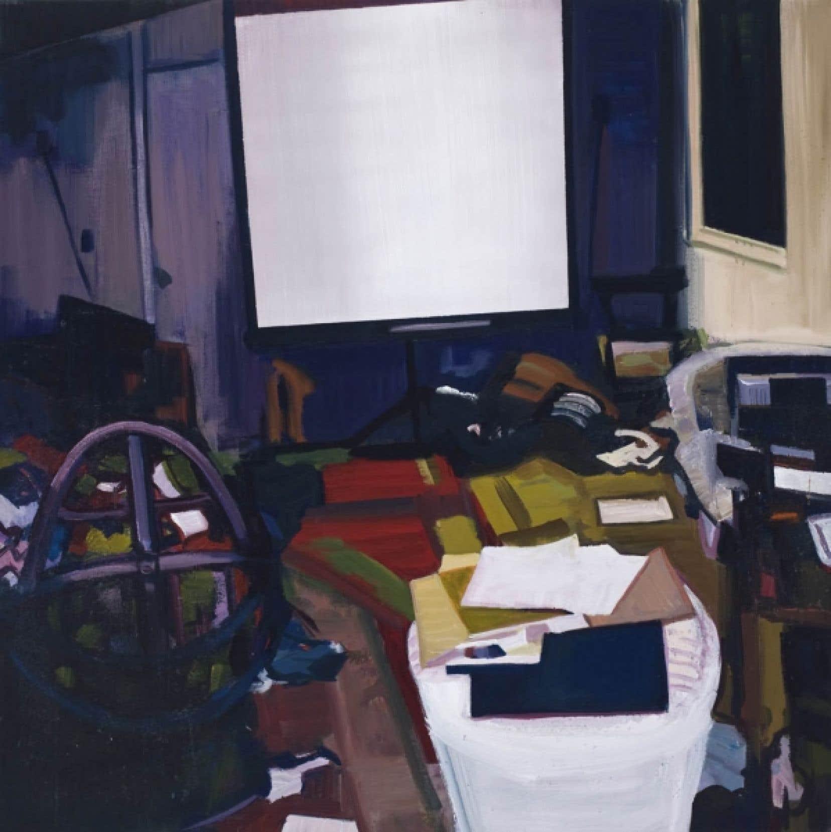 Chambre de visionnement porno (l'affaire Jaycee Lee Dugard), 2008, de Christine Major