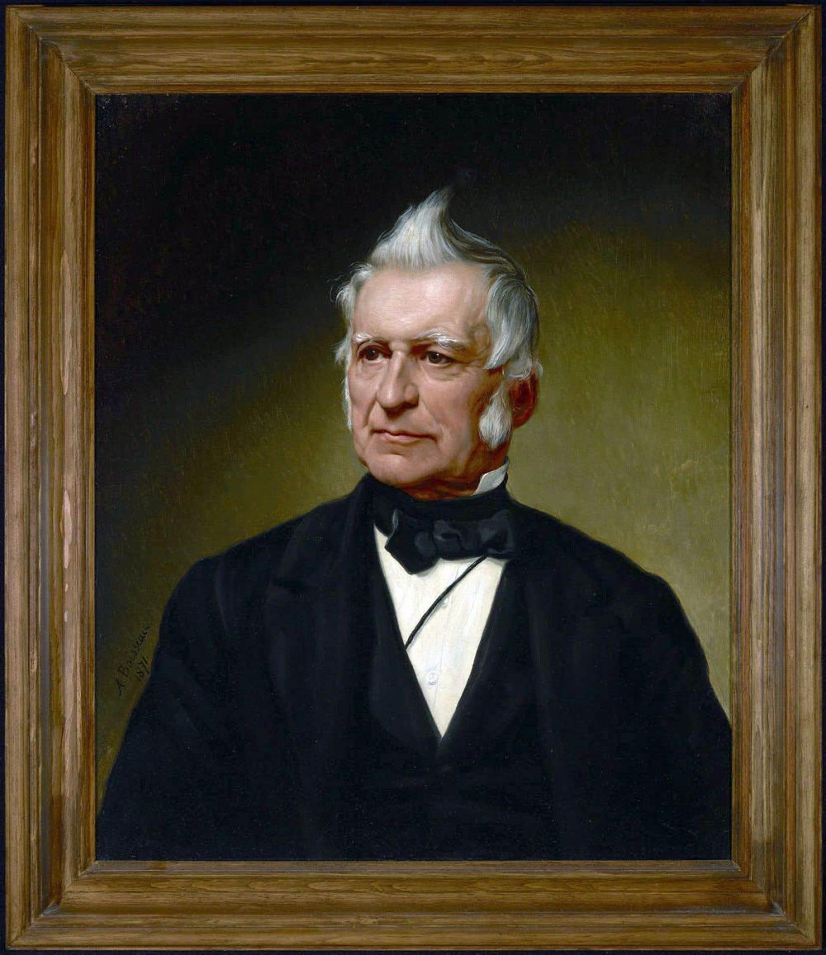 Portrait du leader des Patriotes, Louis-Joseph Papineau, datant de 1872