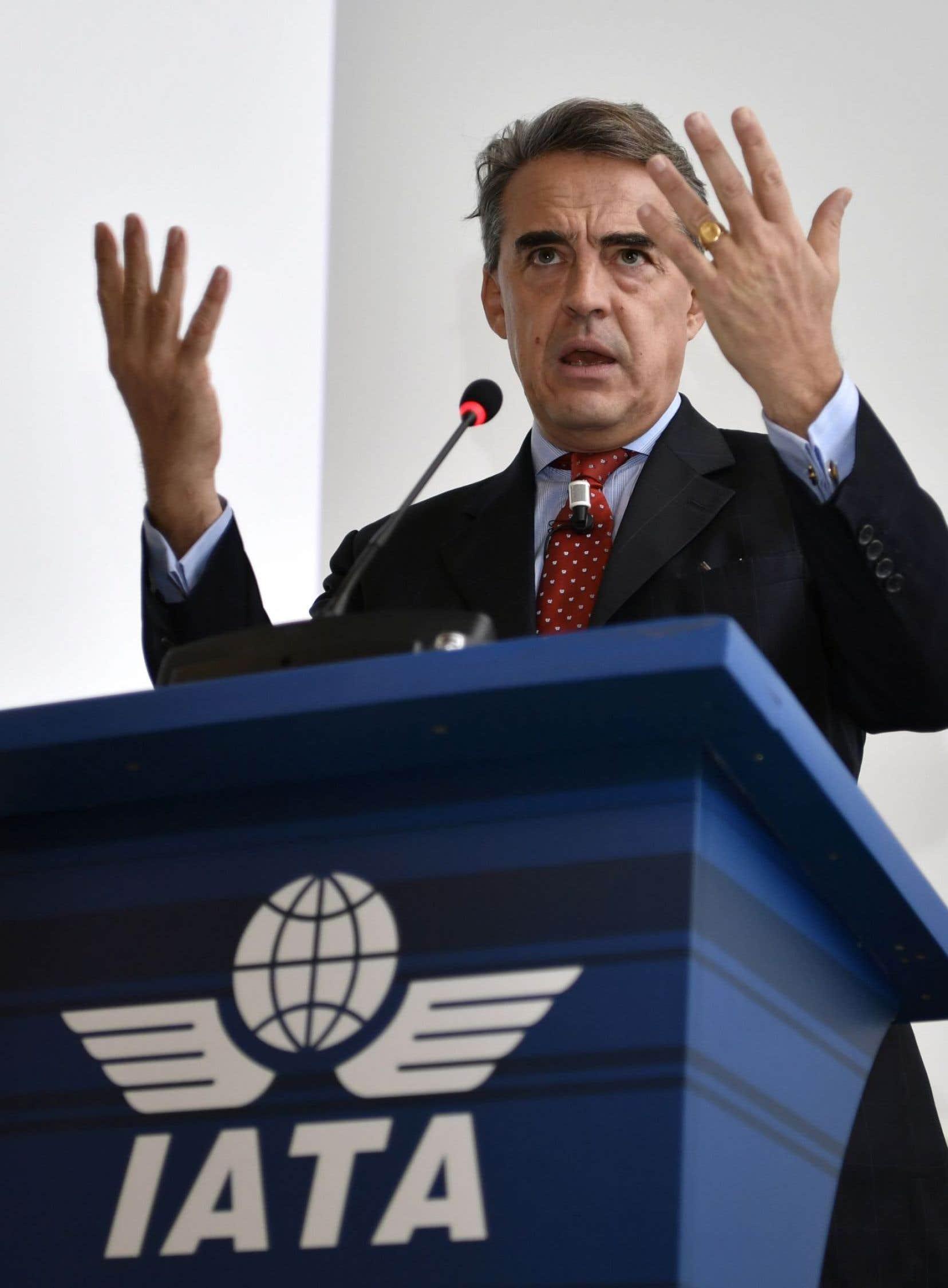 Le président et chef de la direction de l'Association du transport aérien international (IATA), Alexandre de Juniac