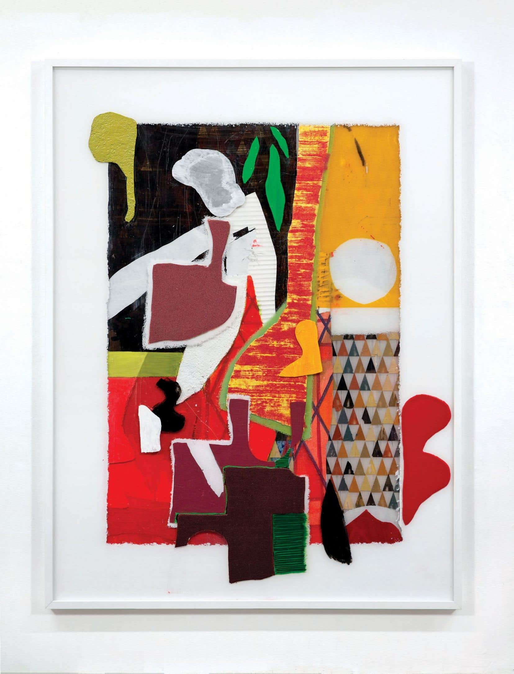 «The Jay Crieth», Dil Hildebrand. 2017, acrylique, résine, fibre de nylon et sable sur panneau acrylique