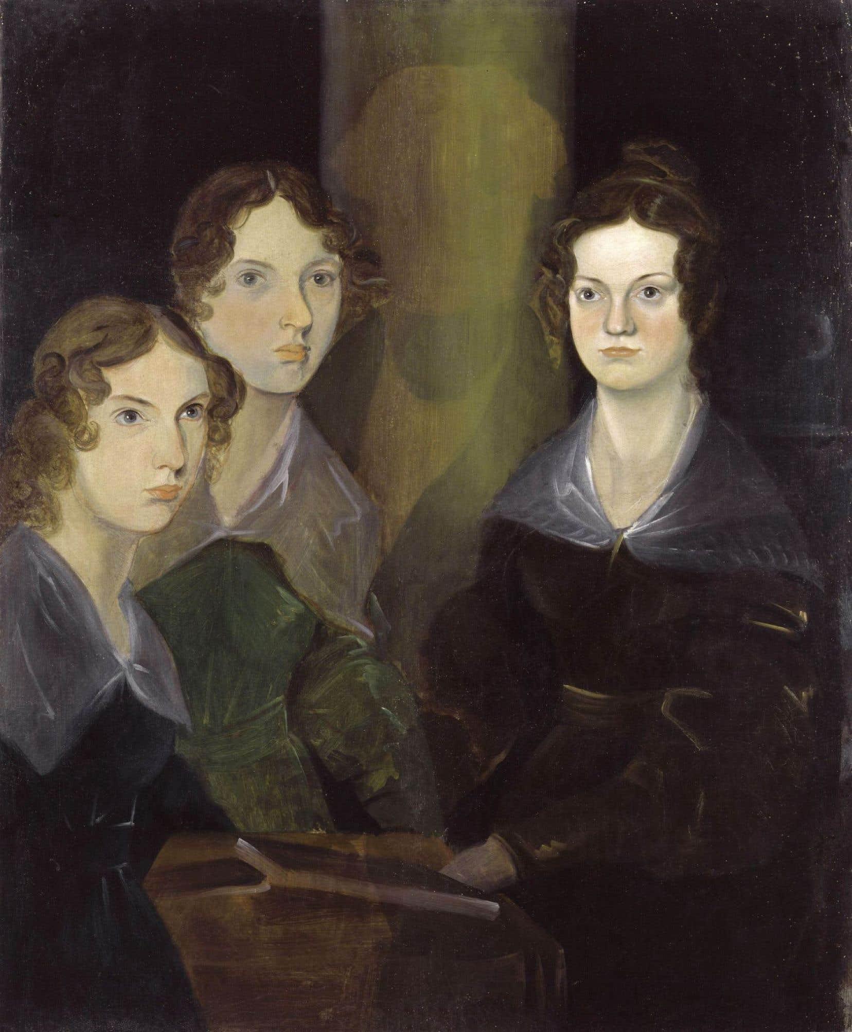 Anne, Emily et Charlotte Brontë, peintes par leur frère Branwell