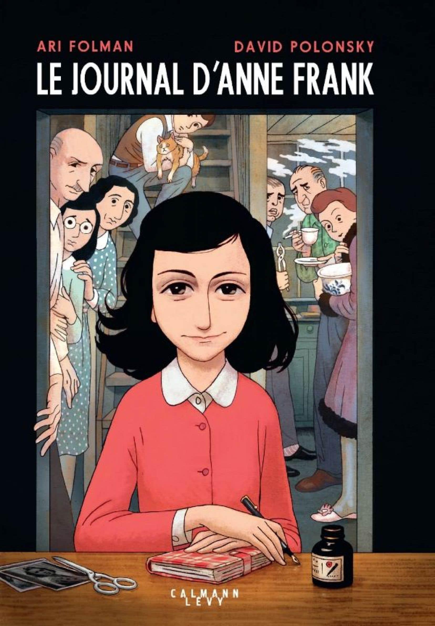 La couverture du Journal d'Anne Frank, version roman graphique,sous la plume du scénariste Ari Folman et du dessinateur David Polonsky