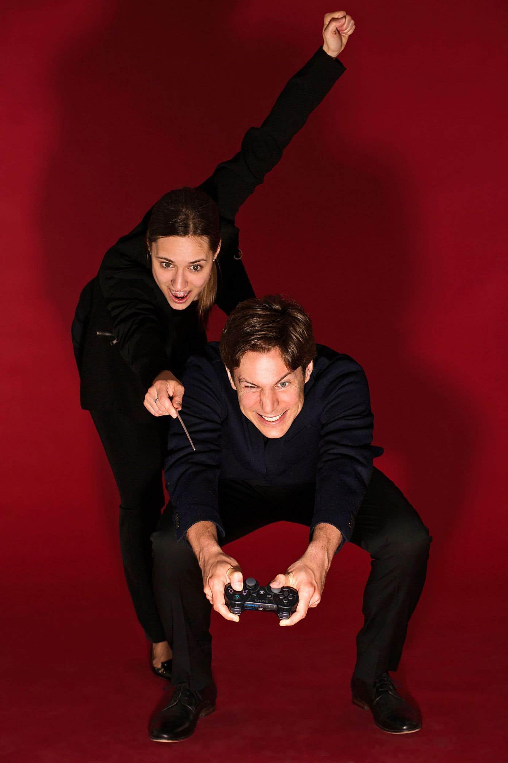 Le compositeur Maxime Goulet et la chef Dina Gilbert, qui tiendra la baguette de cette «Symphonie du jeu vidéo de Montréal».
