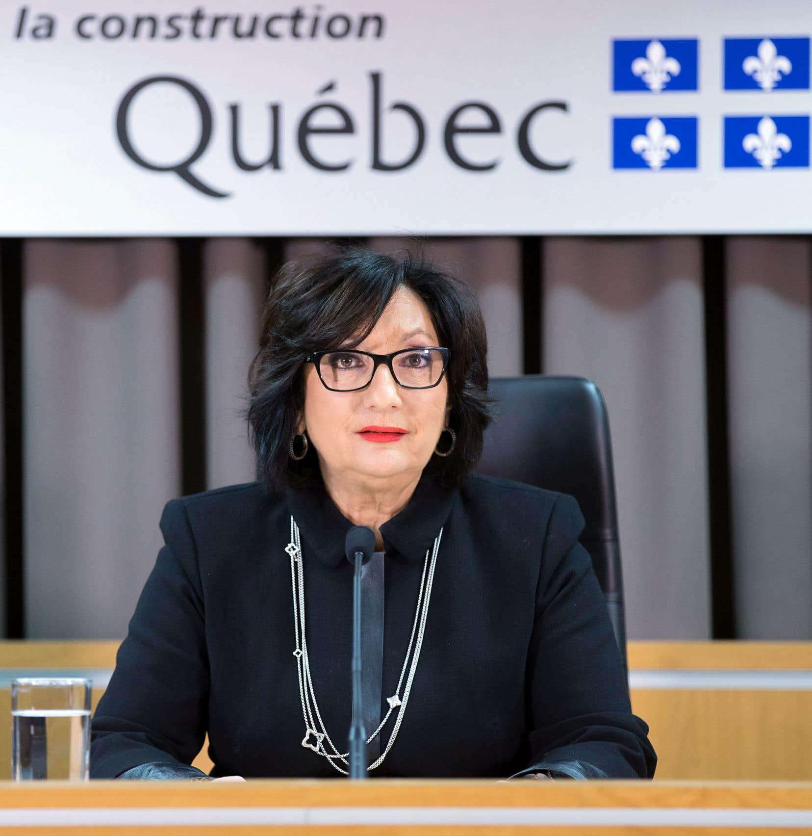 La juge France Charbonneau en novembre 2015