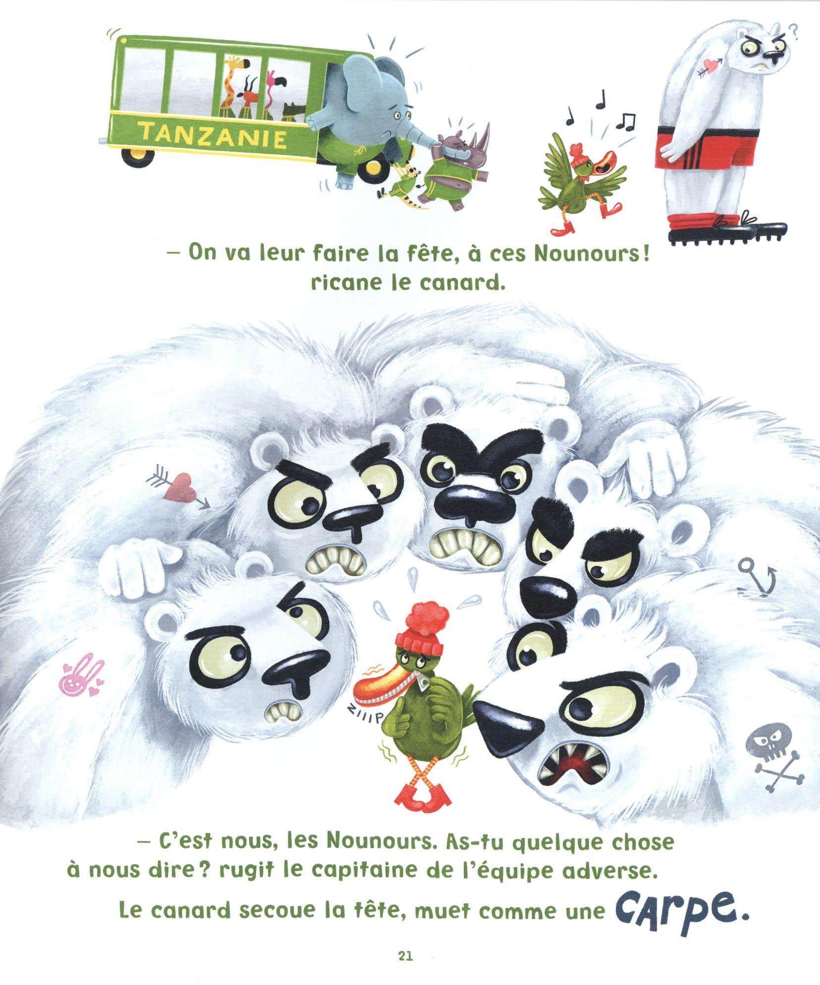 Le dernier album jeunesse cosigné par Benoit Dutrizac et le duo d'illustrateurs Bellebrute est rempli de jeux de mots juteux.