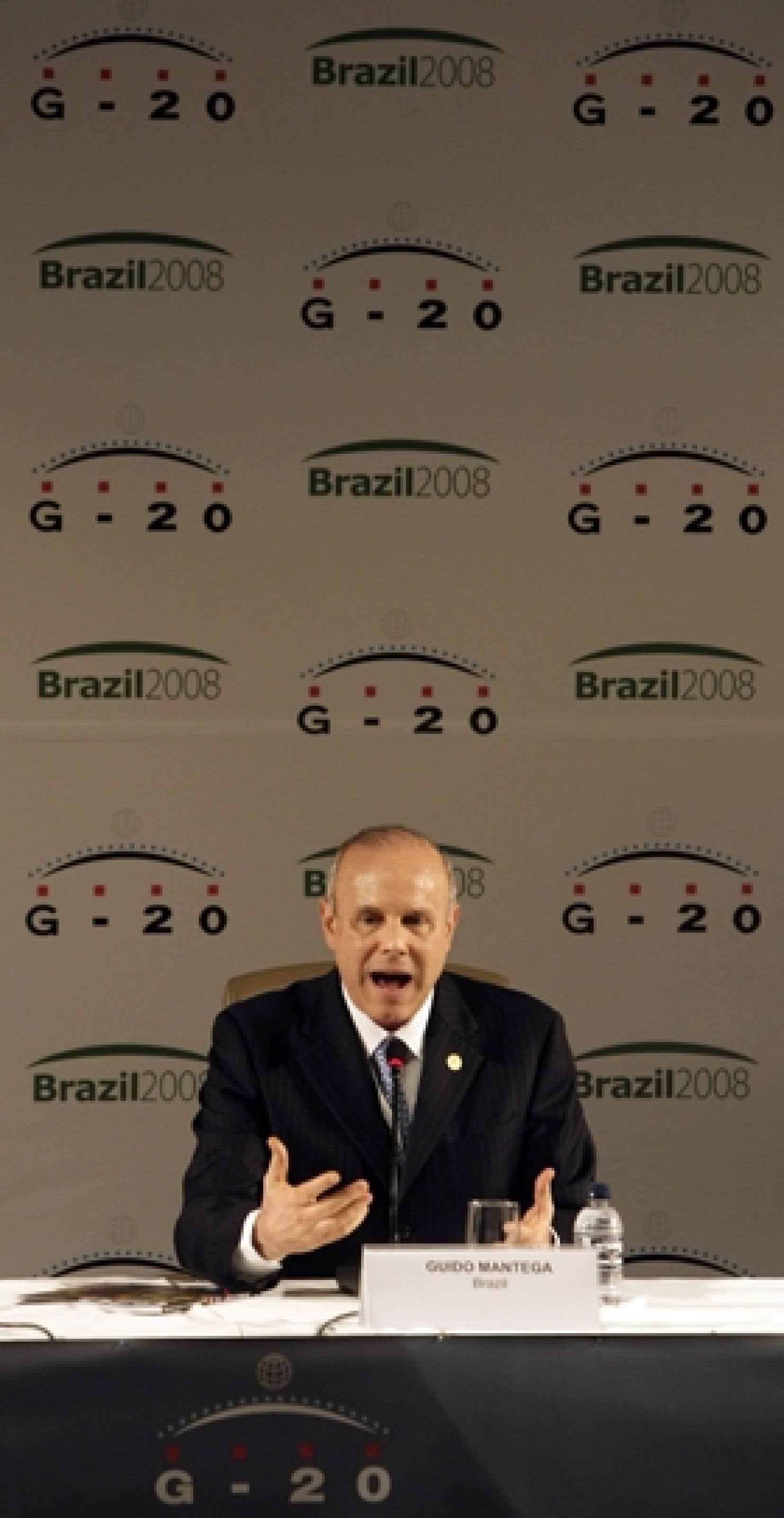 Le ministre brésilien de l'Économie, Guido Mantega