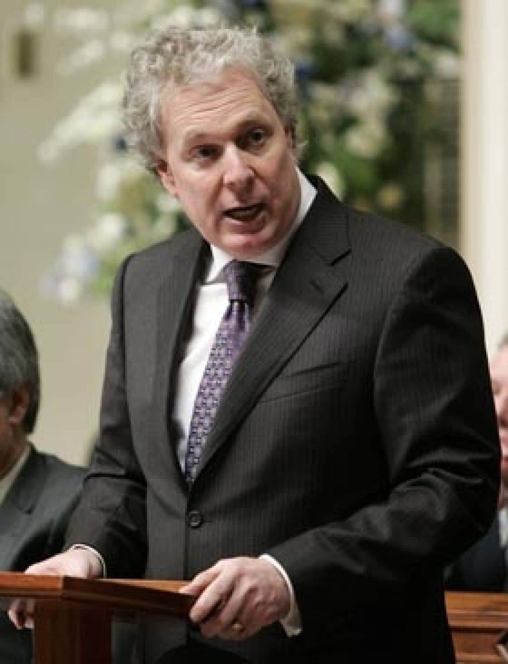 Jean Charest à l'Assemblée nationale la semaine dernière.