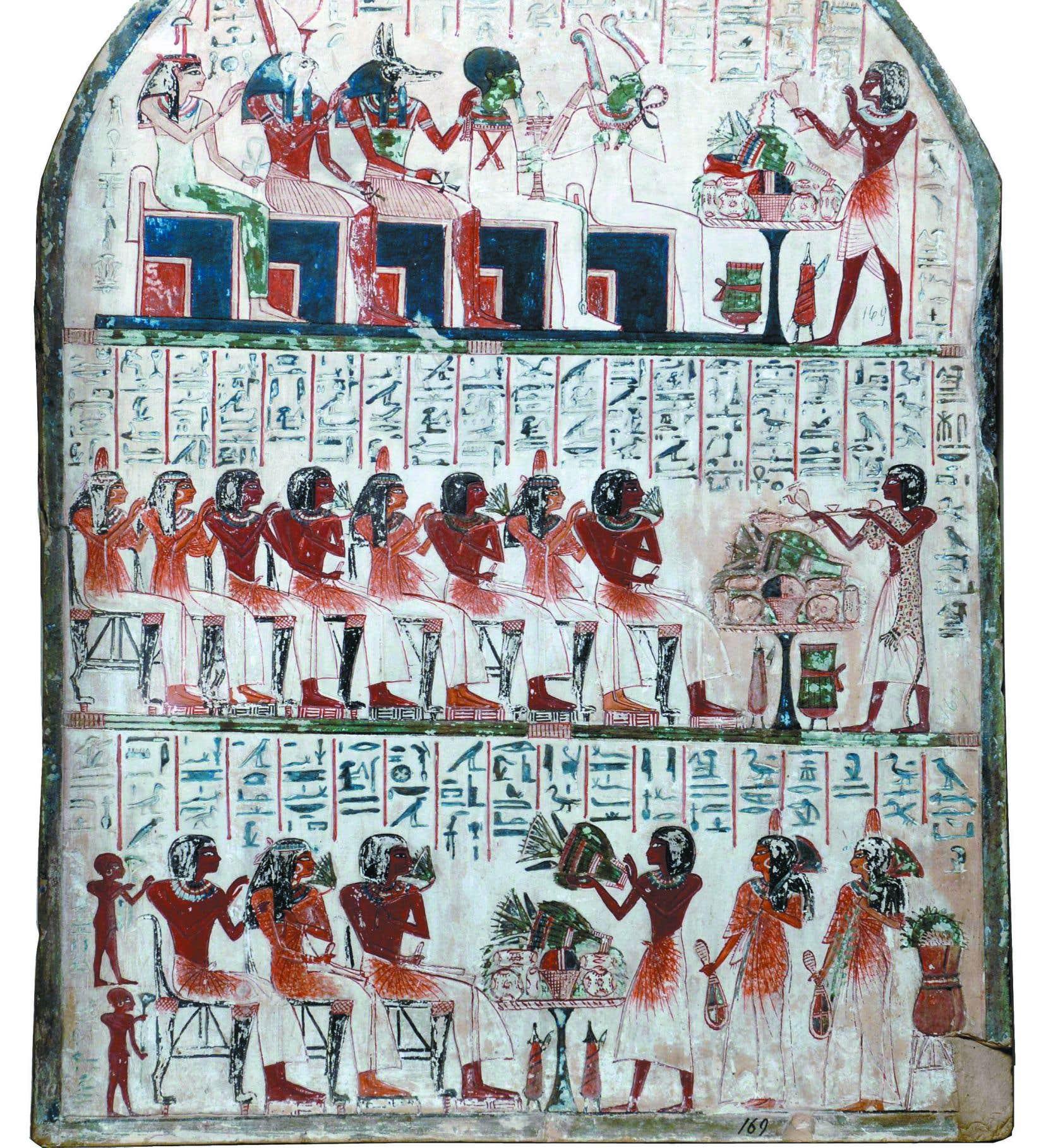 Stèle funéraire d'un tailleur de pierre d'Amon à Thèbes