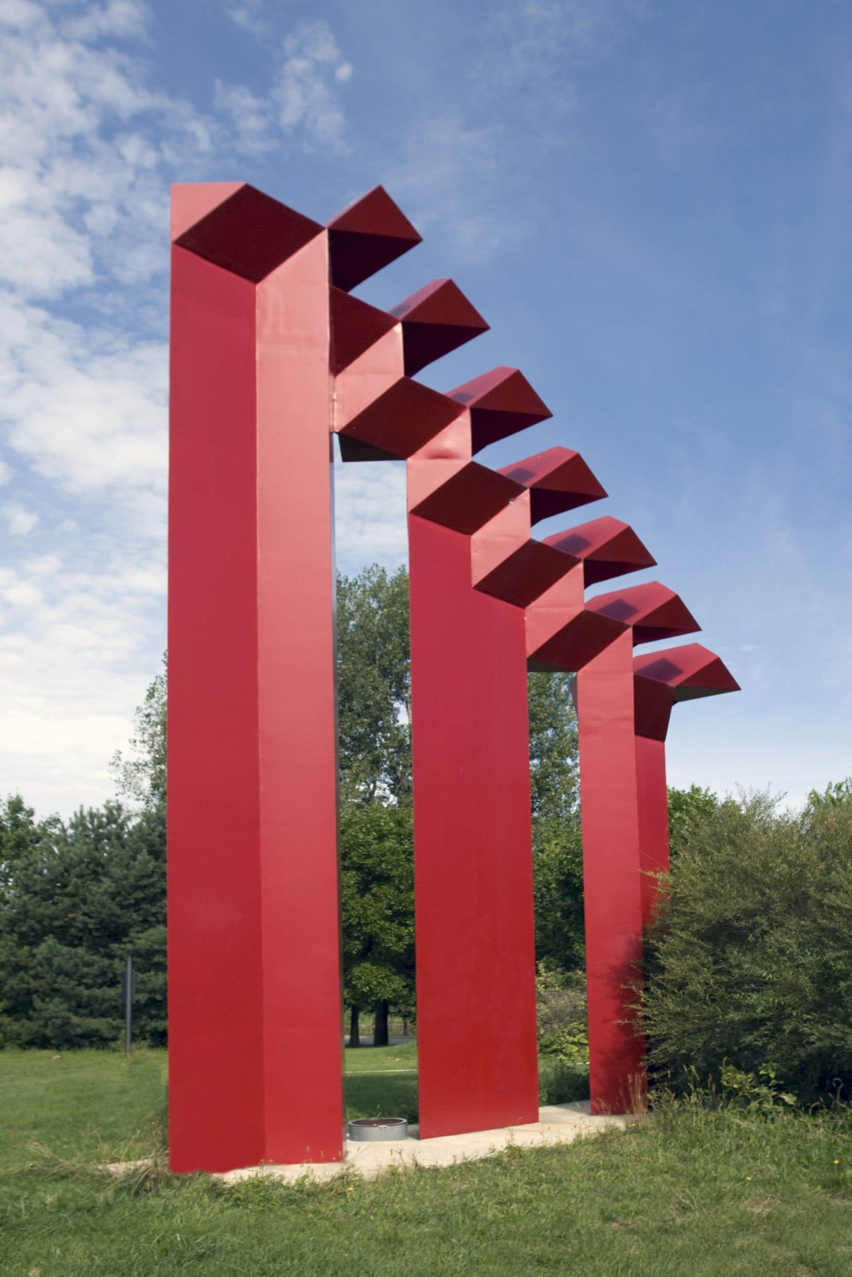Un exemple d'art public sur le site