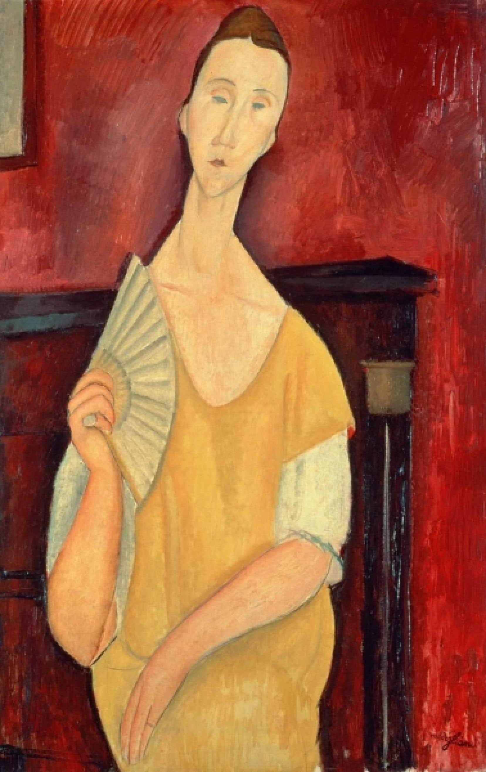 «La femme à l'éventail» de Modigliani, l'un des tableaux volés
