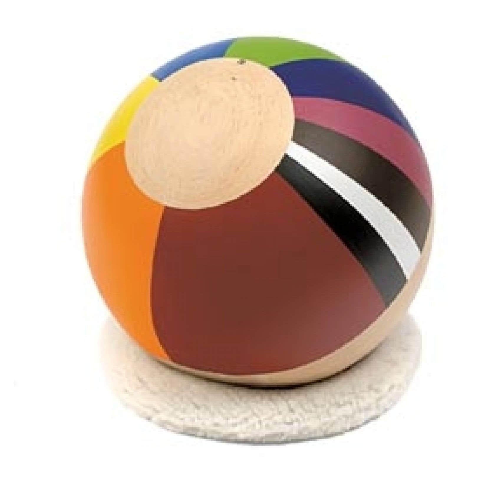 Une des boules colorées du duo Cozic