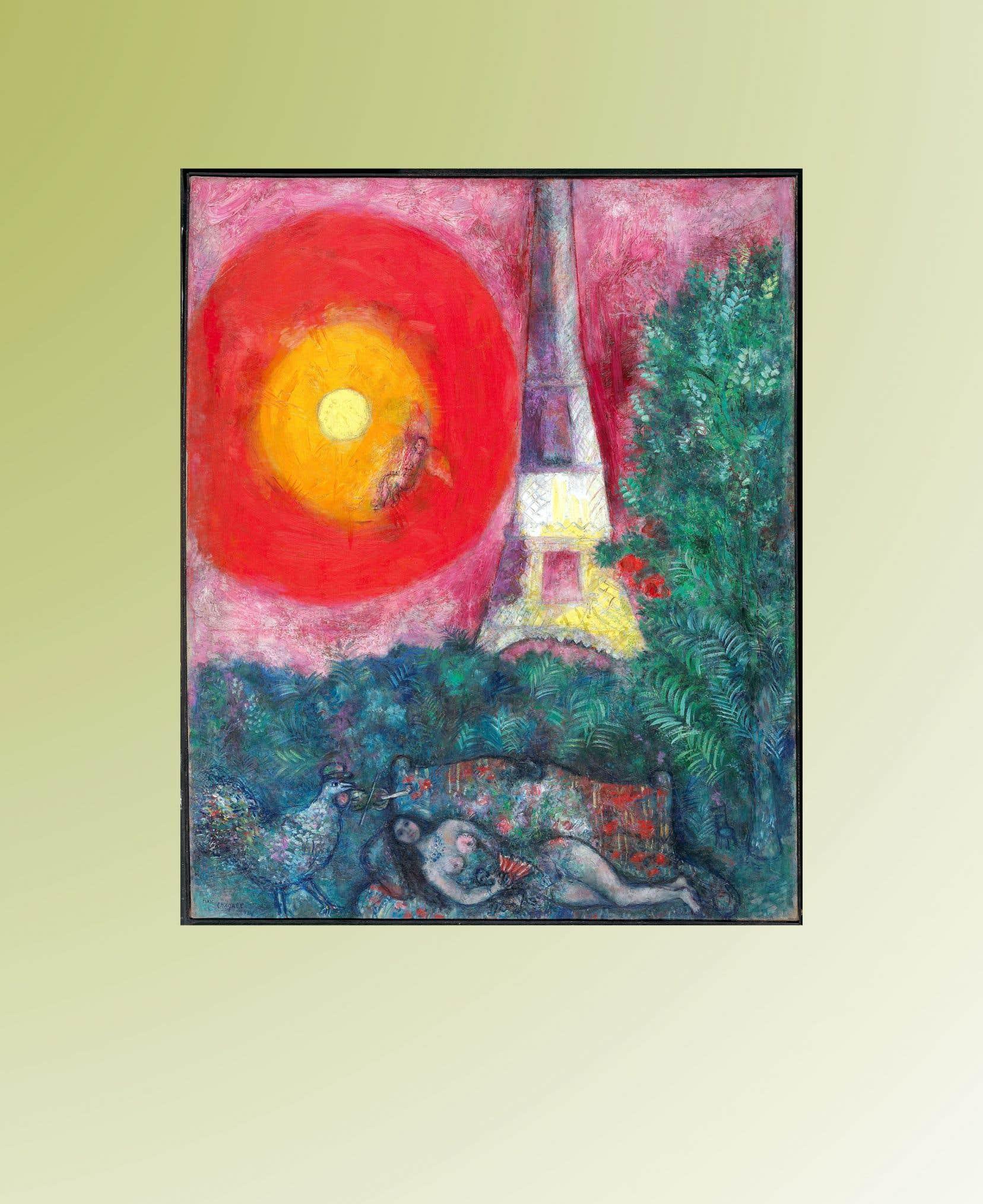 Le Musée des beaux-arts du Canada a raté récemment son projet de mettre aux enchères le Chagall intitulé «La tour Eiffel».