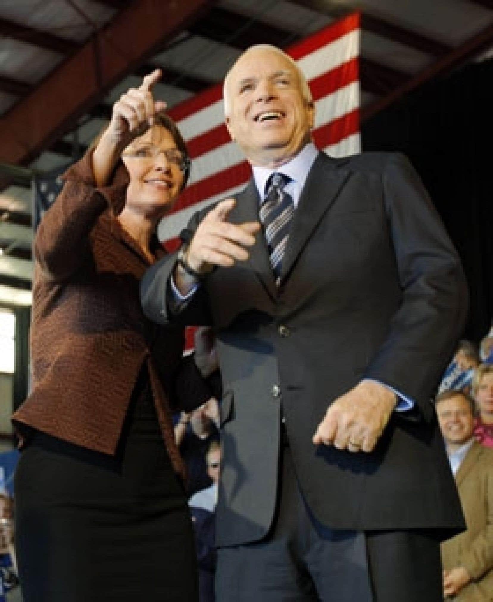 Sarah Palin et John McCain à la convention des républicains la semaine dernière.