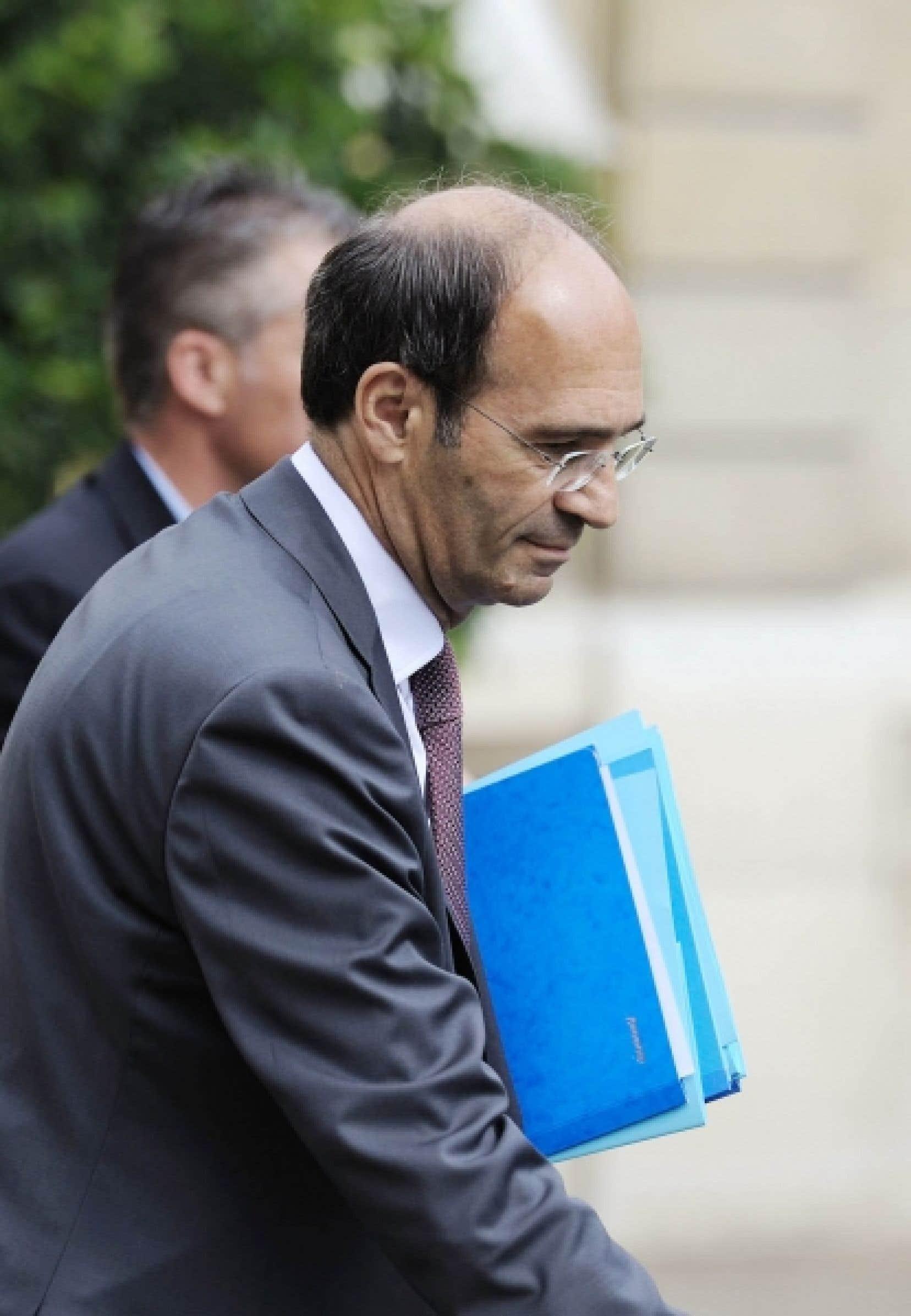 Le ministre français du Travail, Éric Woerth<br />