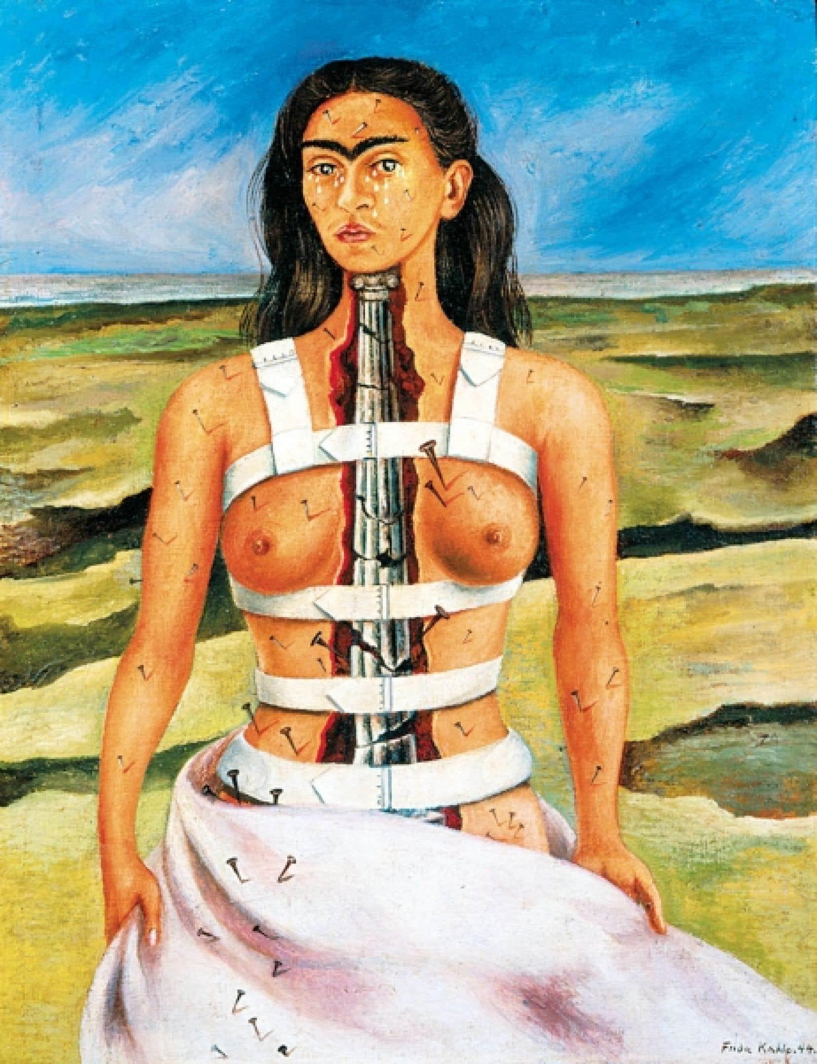 Frida Kahlo, <em>La colonna rota</em> (d&eacute;tail), 1944, Museo Dolores Olmedo Pati&ntilde;o, Mexico
