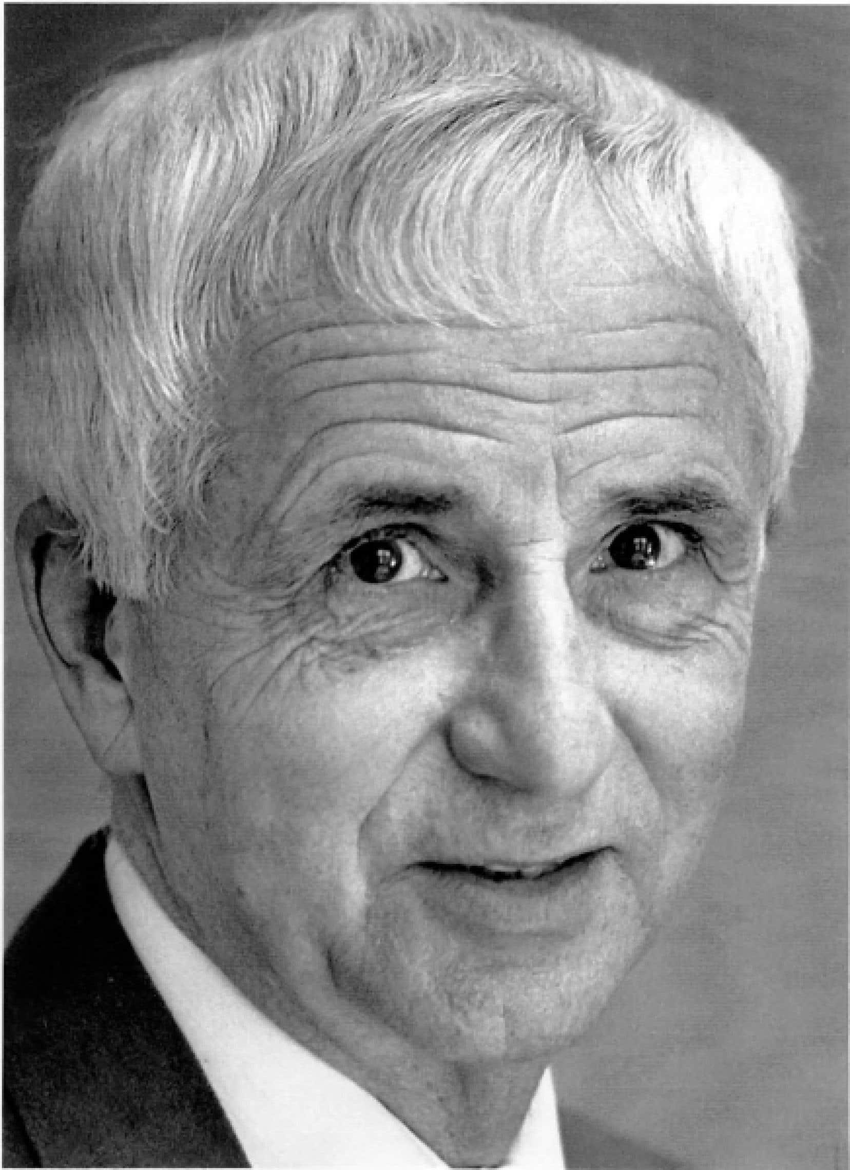 Jean Francœur, à son départ du Devoir en 1992<br />