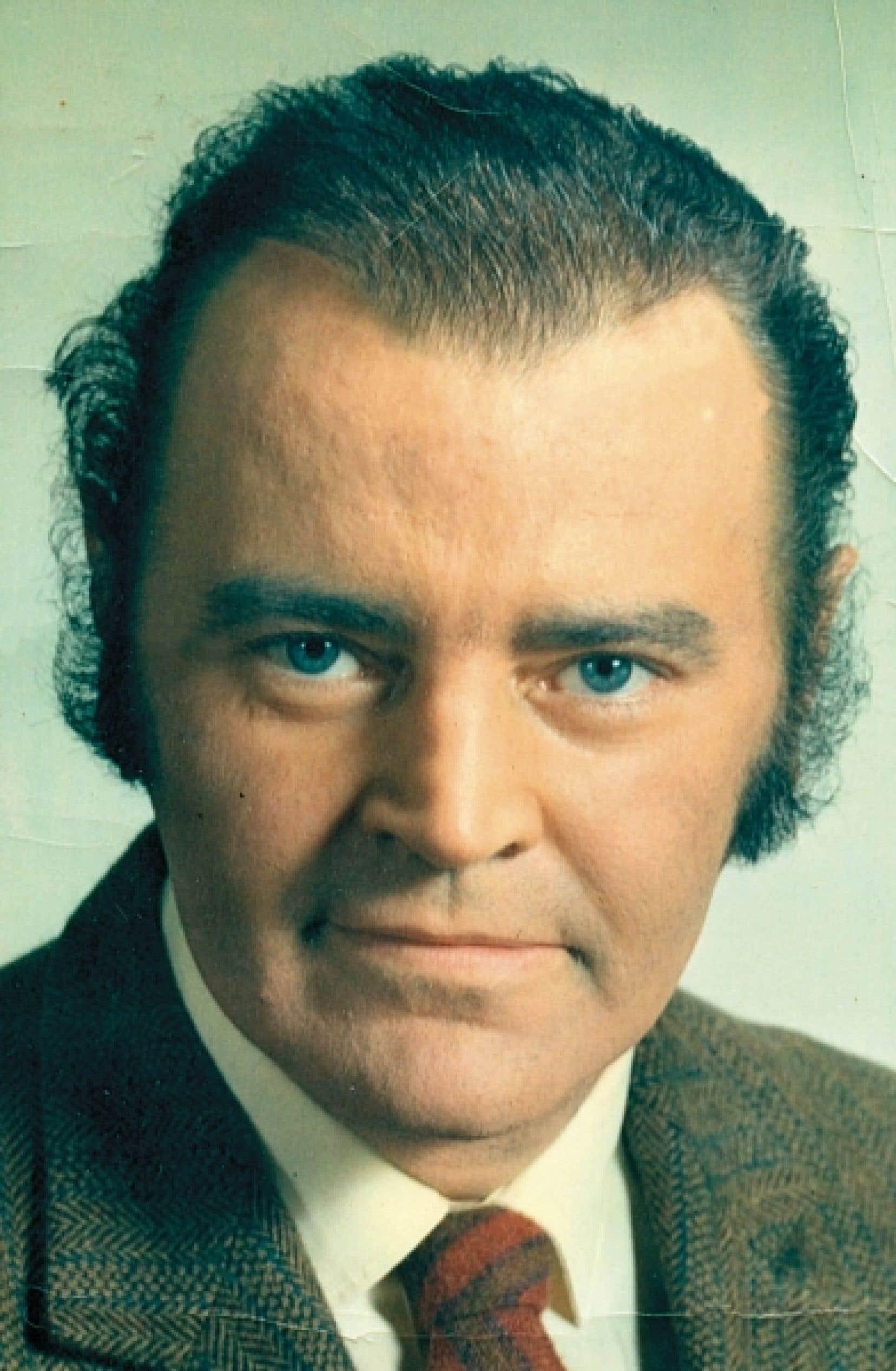 Paul Cliche lorsqu'il travaillait au Devoir, en 1968.<br />