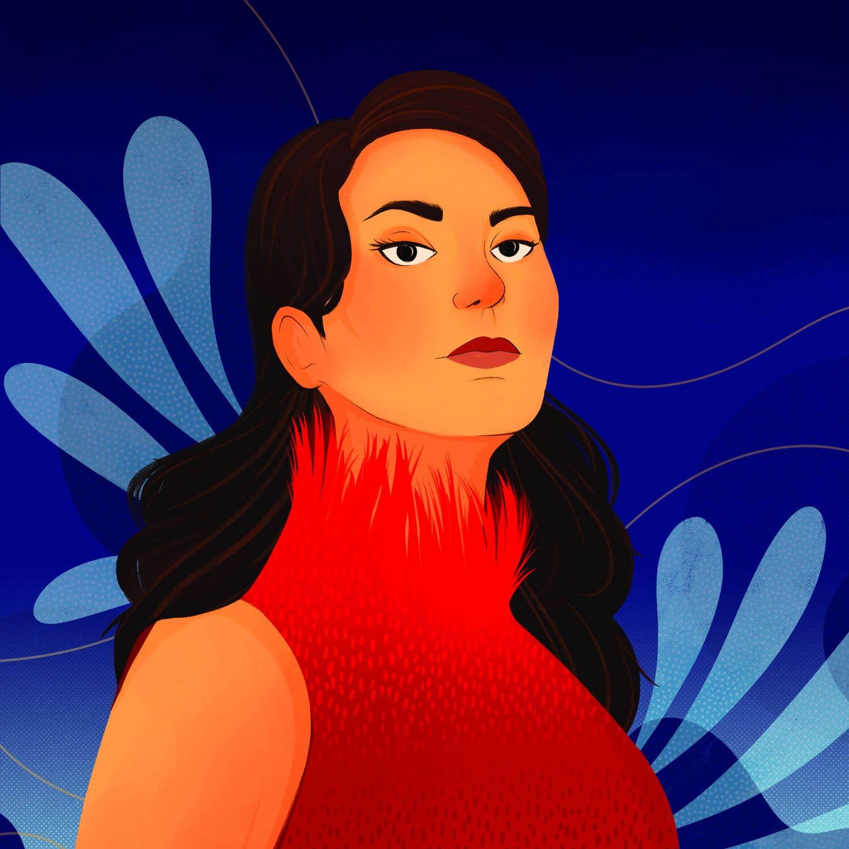 L'auteure et chanteuse de gorge inuite Tanya Tagaq vue par l'illustratrice Maia Faddoul
