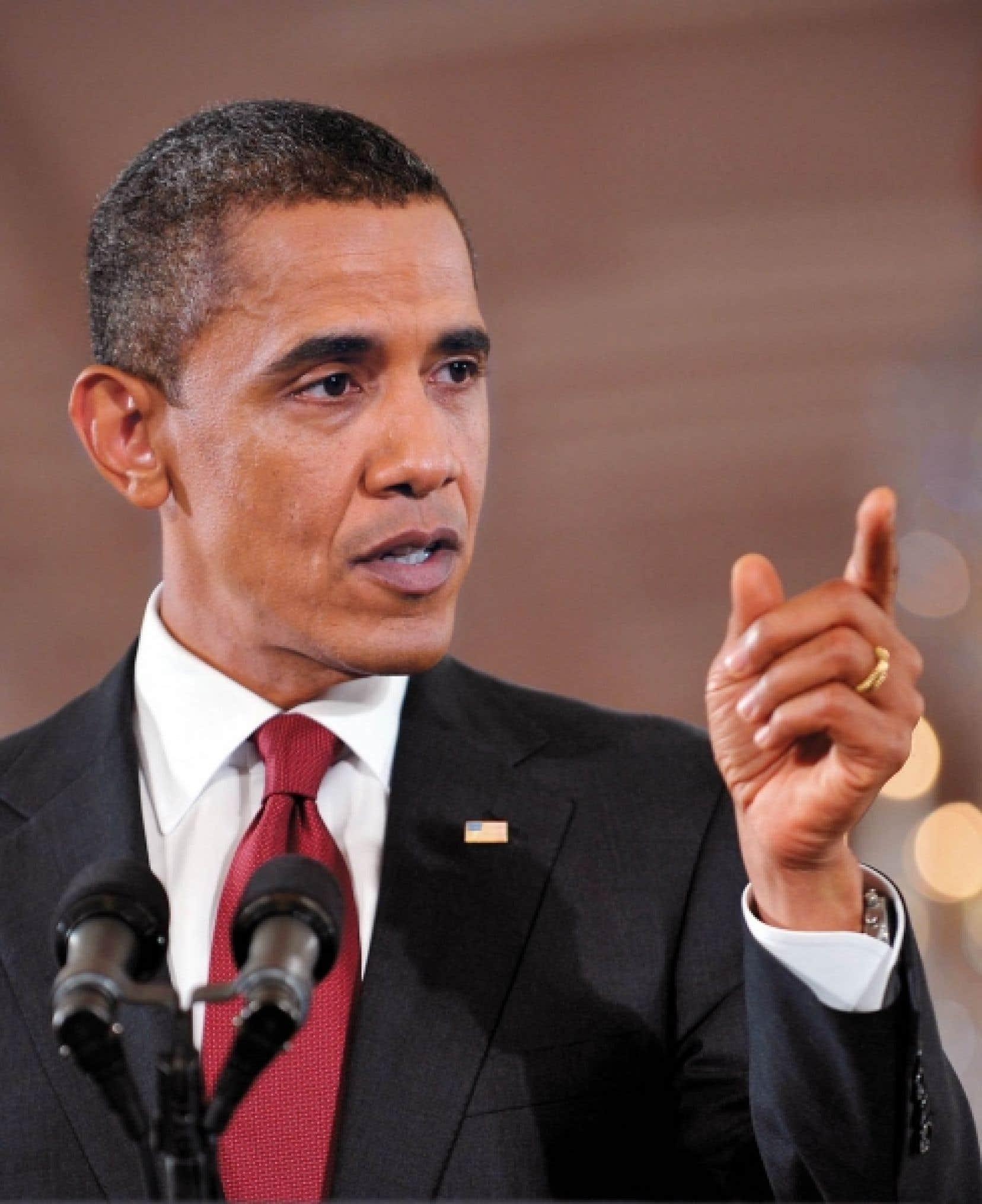 Le président Obama a déclaré hier à Washington avoir entendu le peuple américain et accepter son blâme.<br />