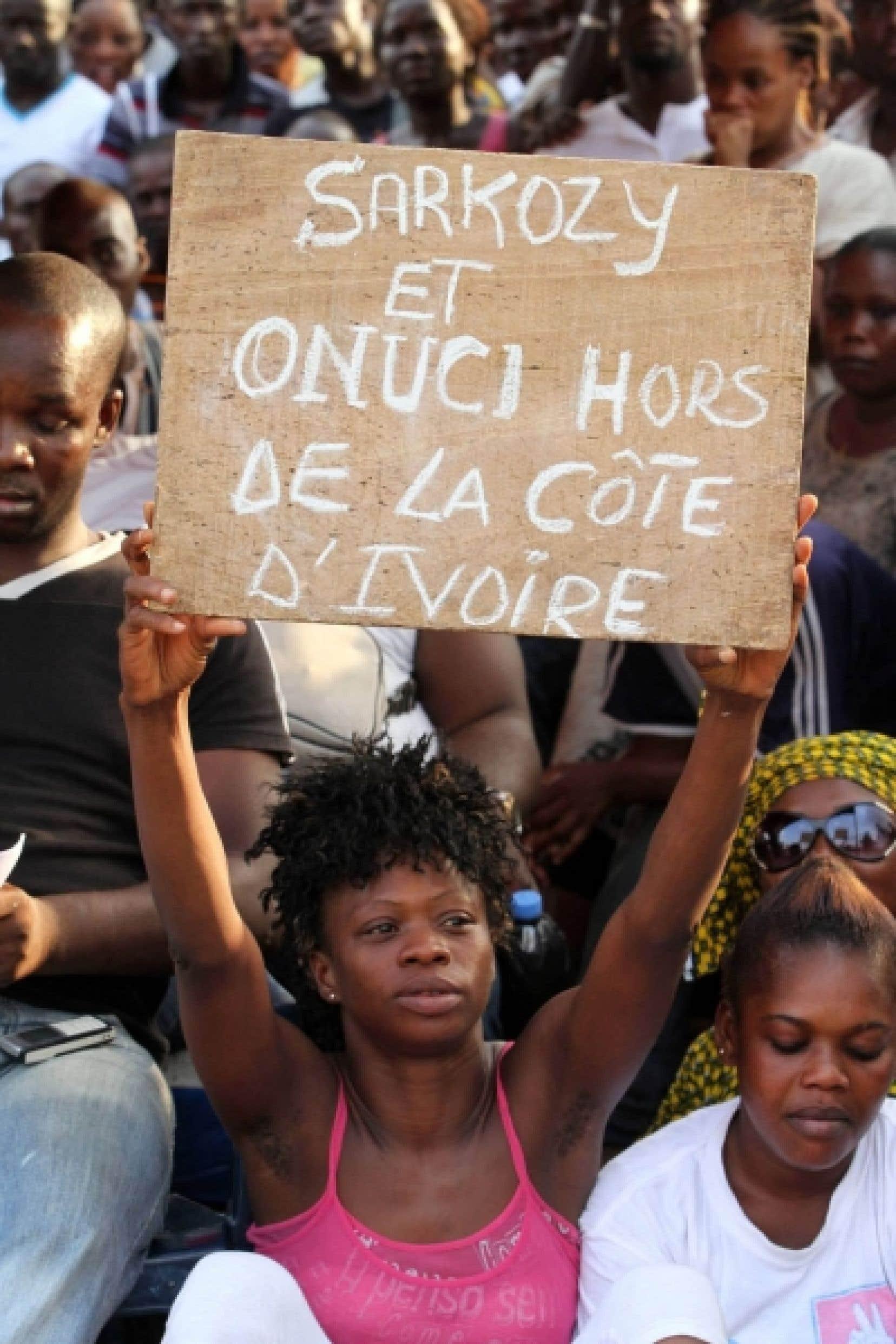Une partisane de Laurent Gbagbo, samedi<br />