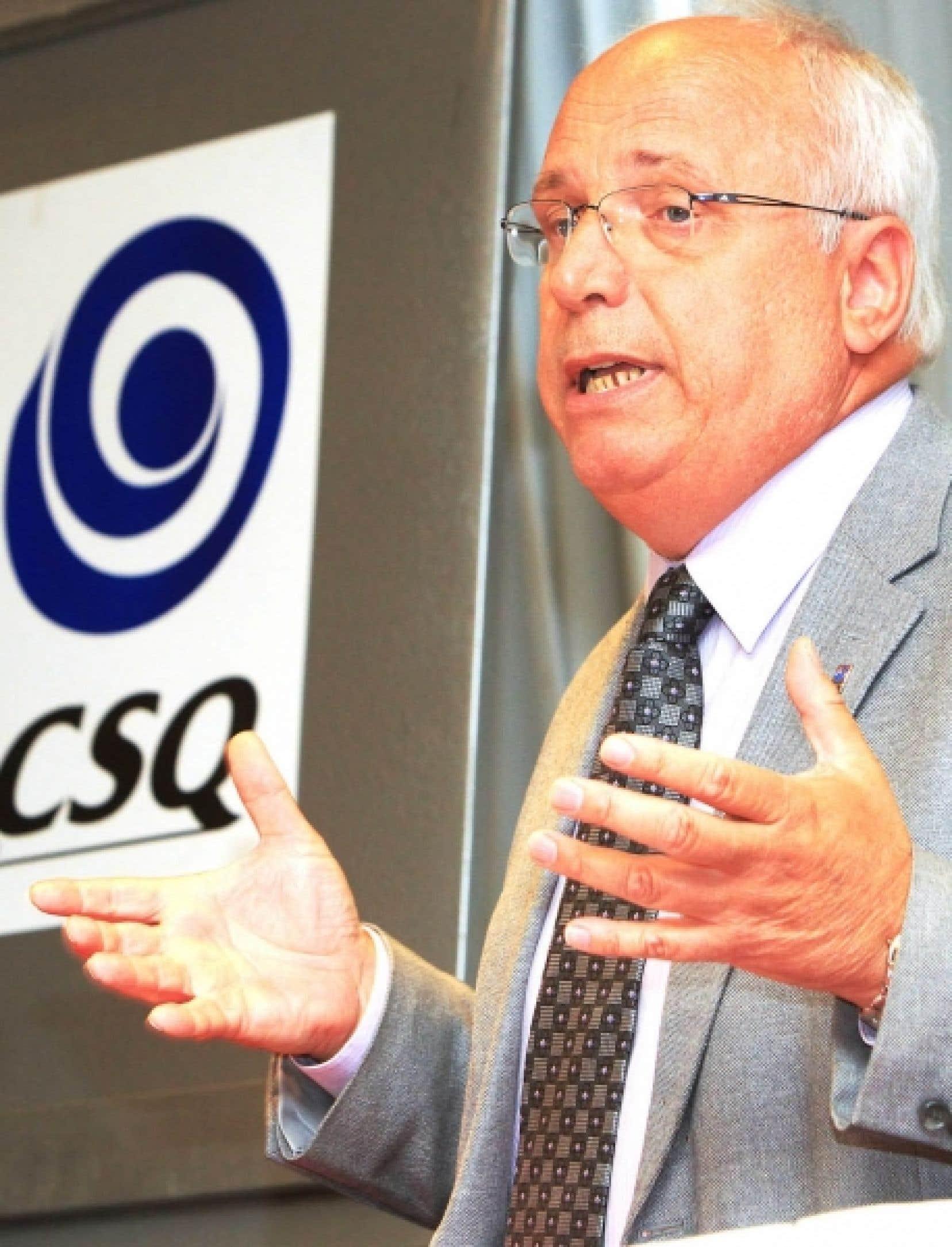 Le président de la CSQ, Réjean Parent<br />