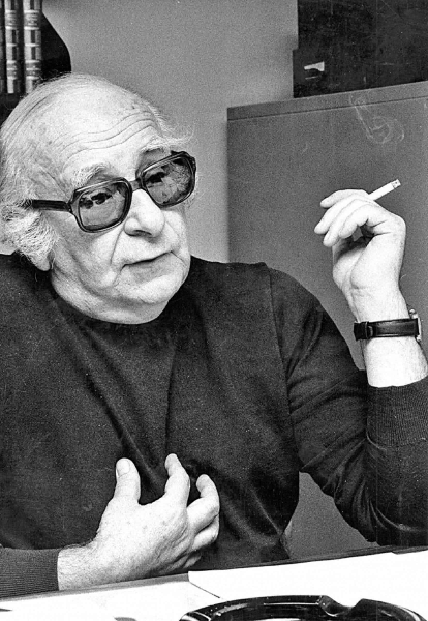 Marcel Rioux (1919-1992), pr&eacute;sident de la Commission d&rsquo;enqu&ecirc;te sur l&rsquo;enseignement des arts, cr&eacute;&eacute;e en 1966<br />