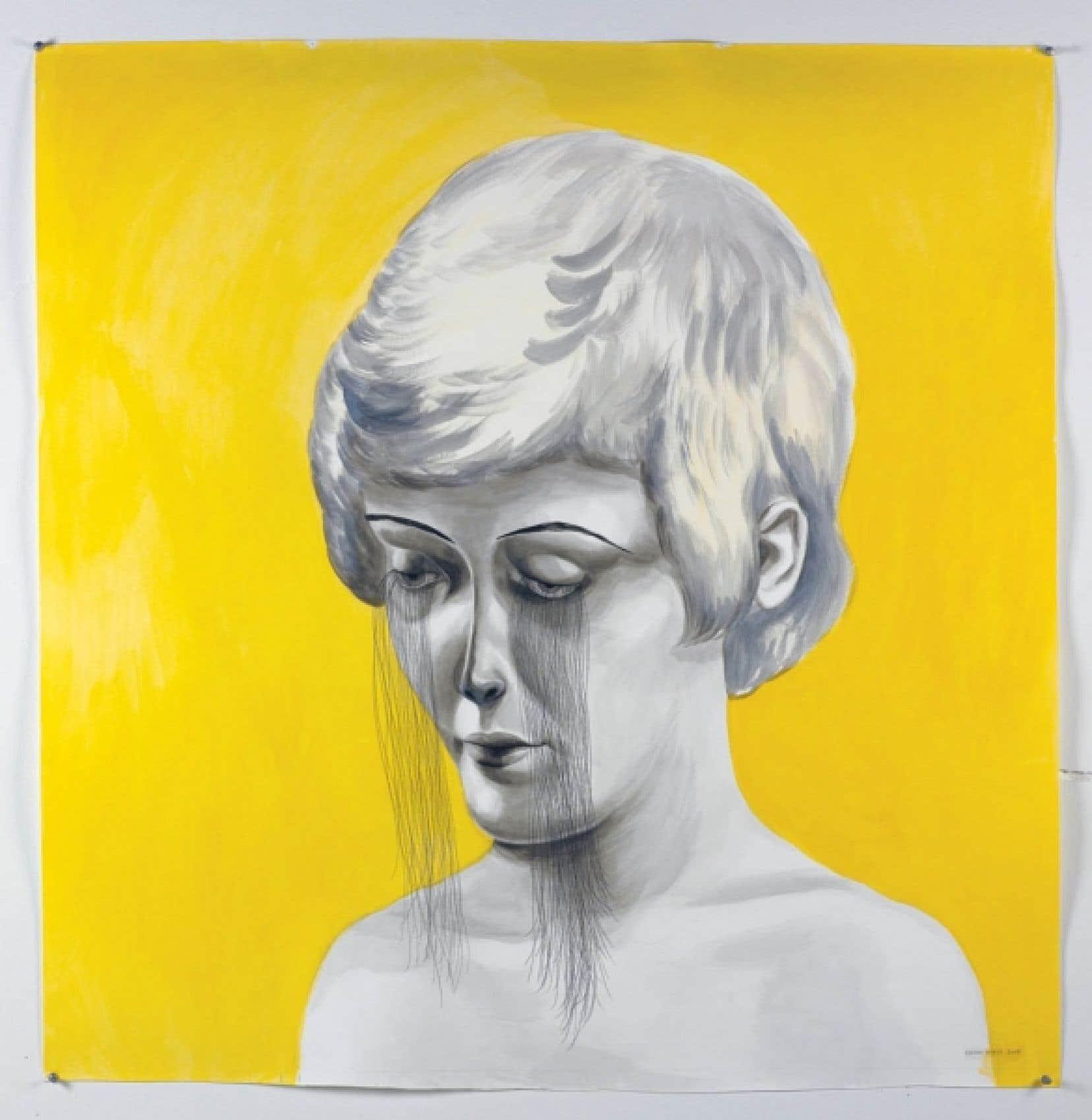Shary Boyle, The Blind, 2010, pâte polymère et perles de verre<br />